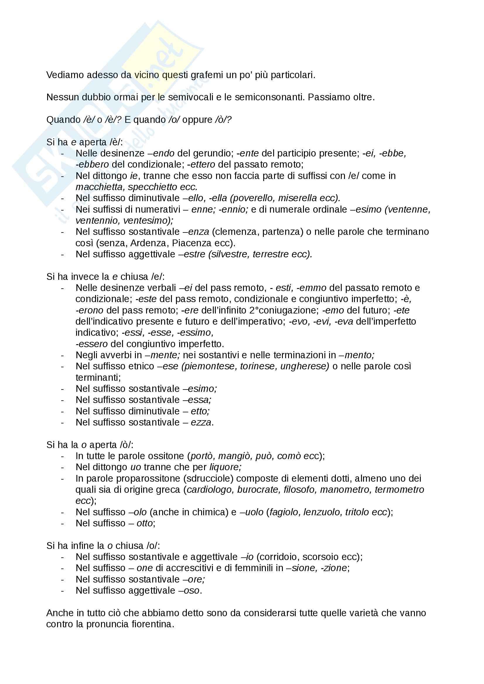 Riassunto esame Linguistica Italiana, prof. Marroni, libro consigliato Grammatica Italiana di Serianni Pag. 11