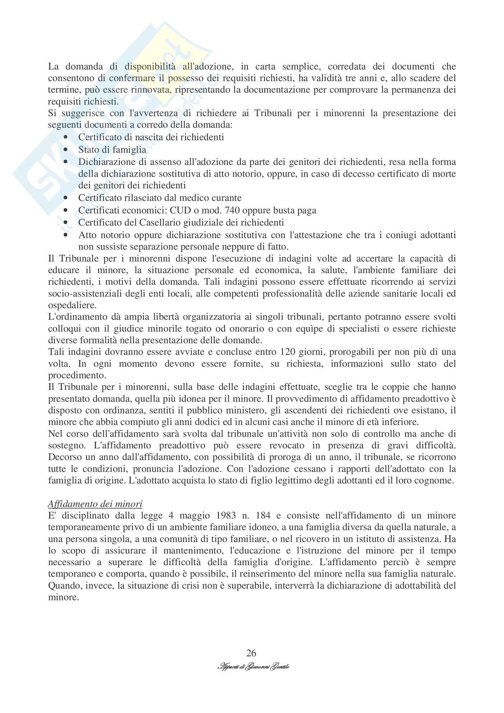 Diritto processuale civile - diritto di famiglia Pag. 26