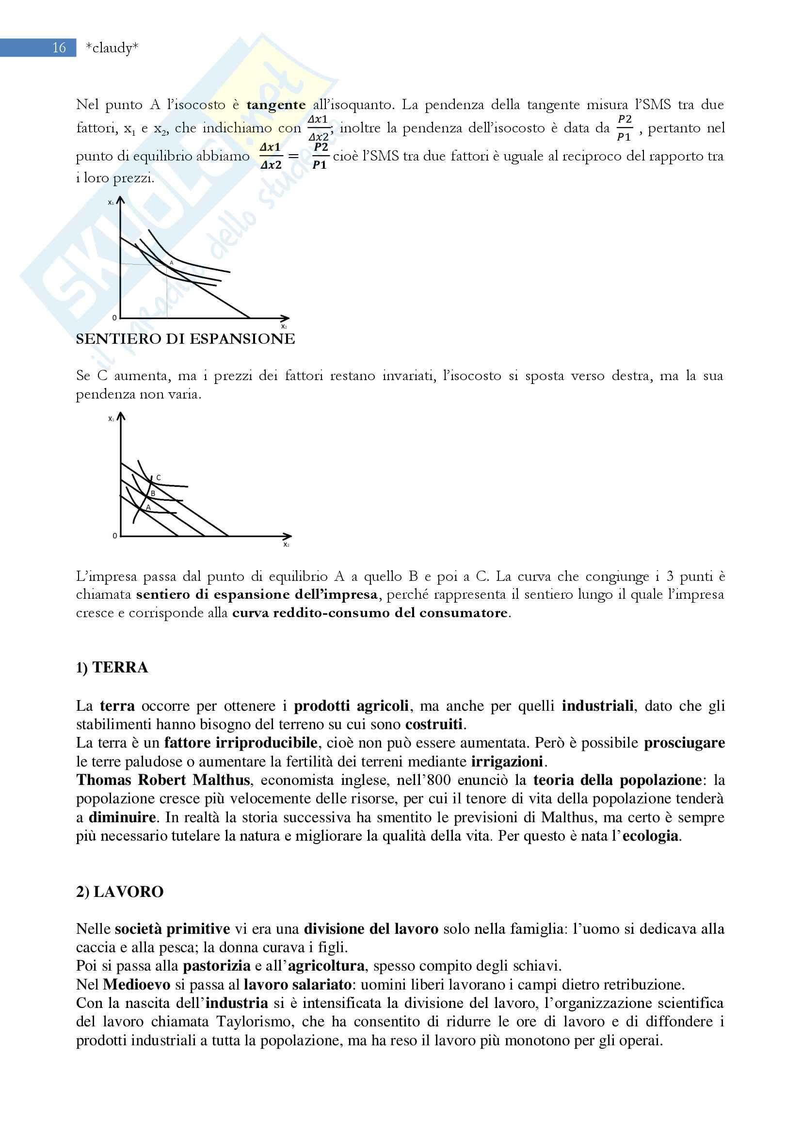 Economia politica - la microeconomia Pag. 16
