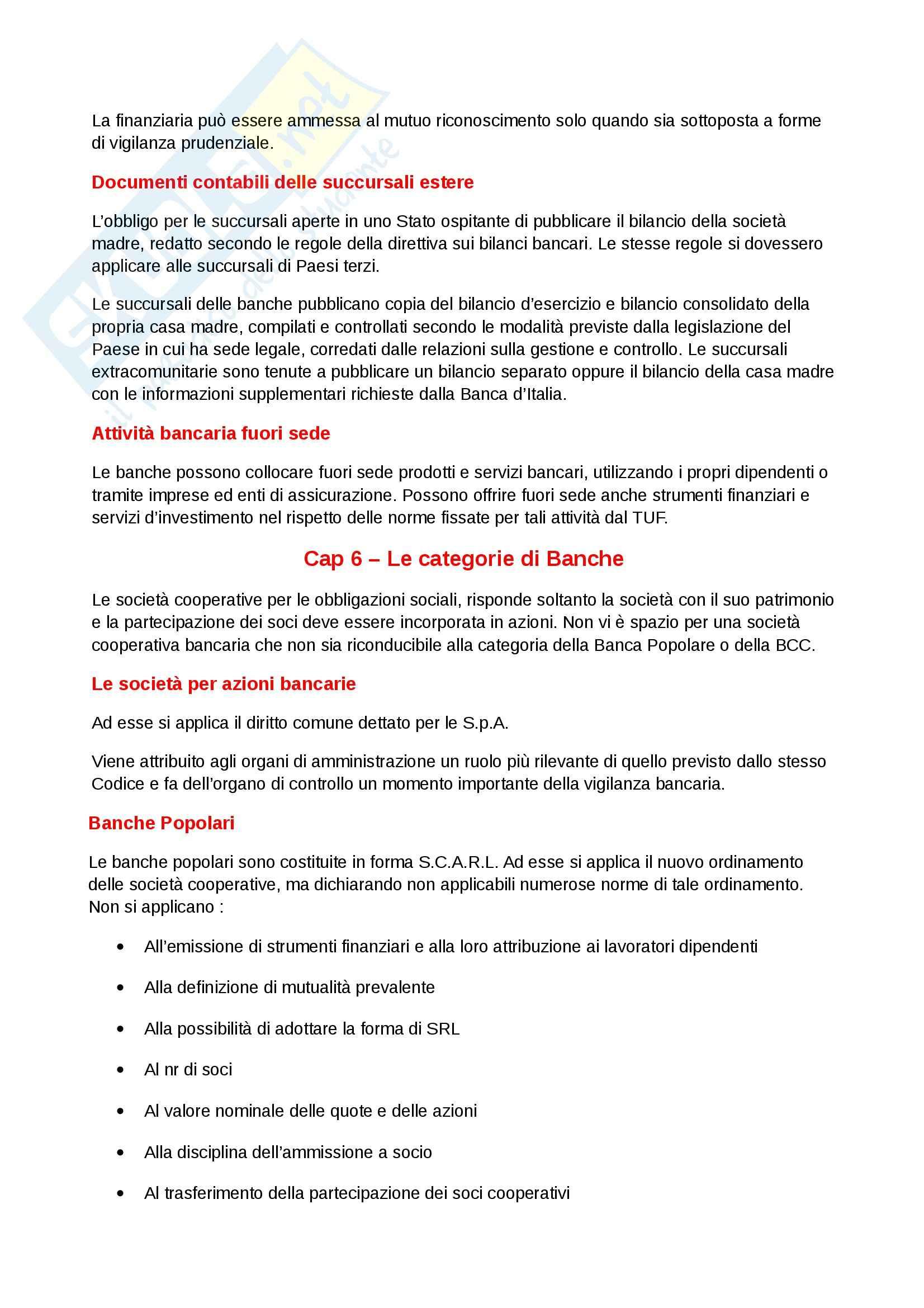 Riassunto esame diritto, prof. Gattoni, libro consigliato L'ordinamento bancario, Costi Pag. 46