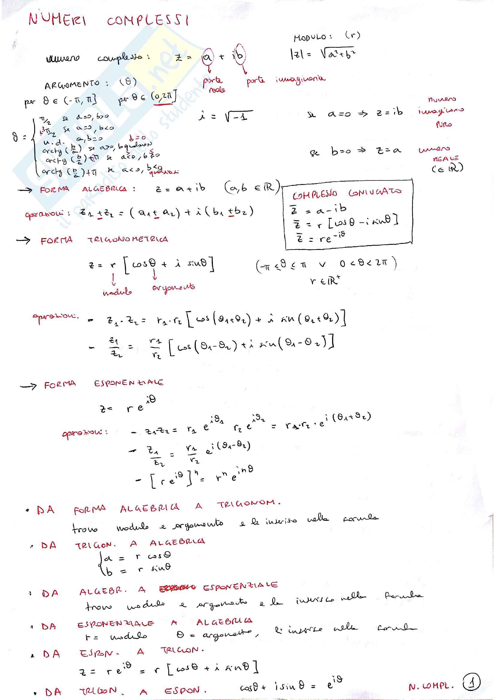 Formulario Analisi 1 Pag. 11