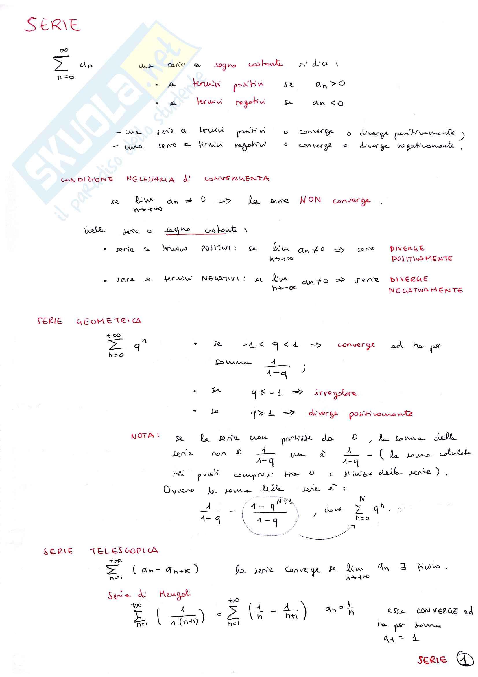 Formulario Analisi 1 Pag. 6