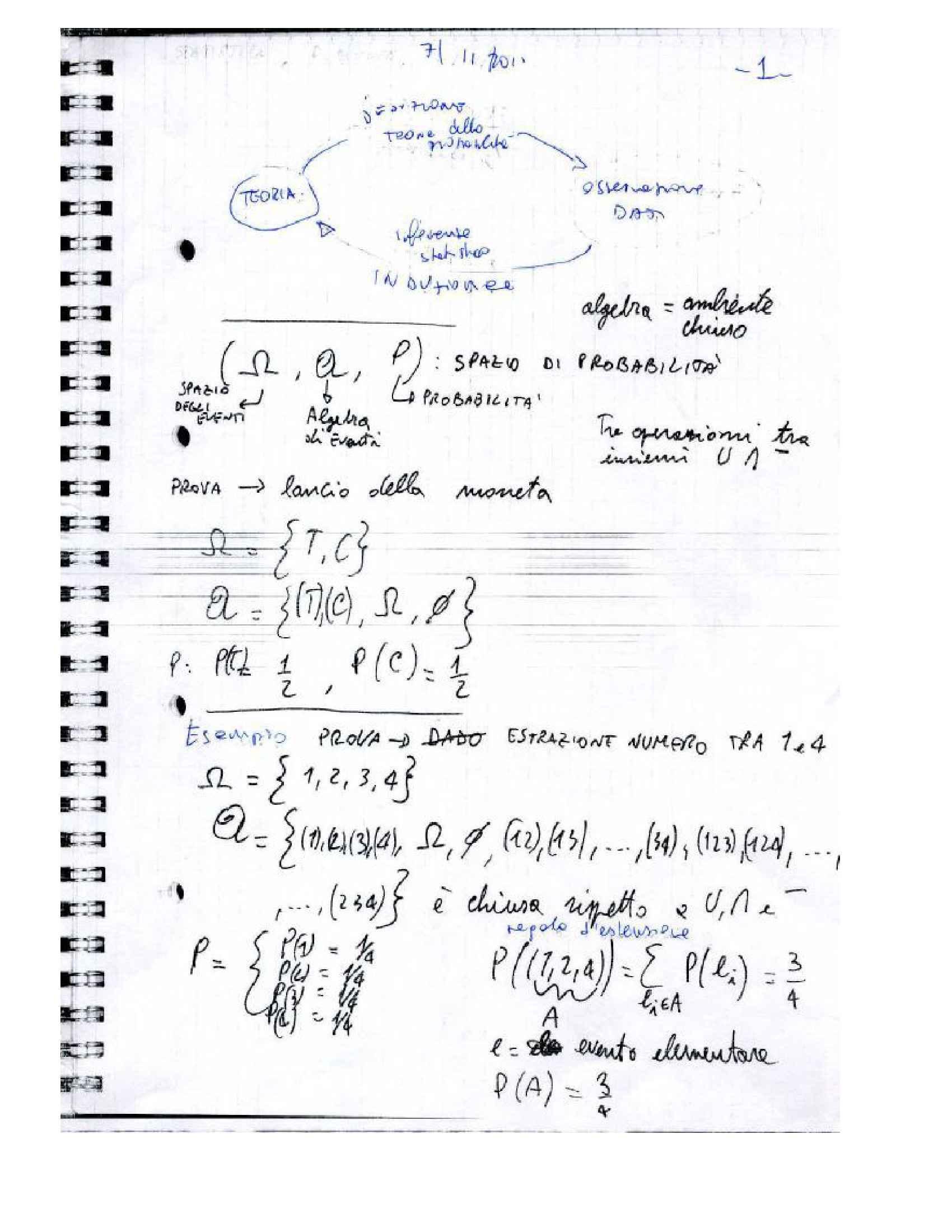 Statistica matematica - Esercizi