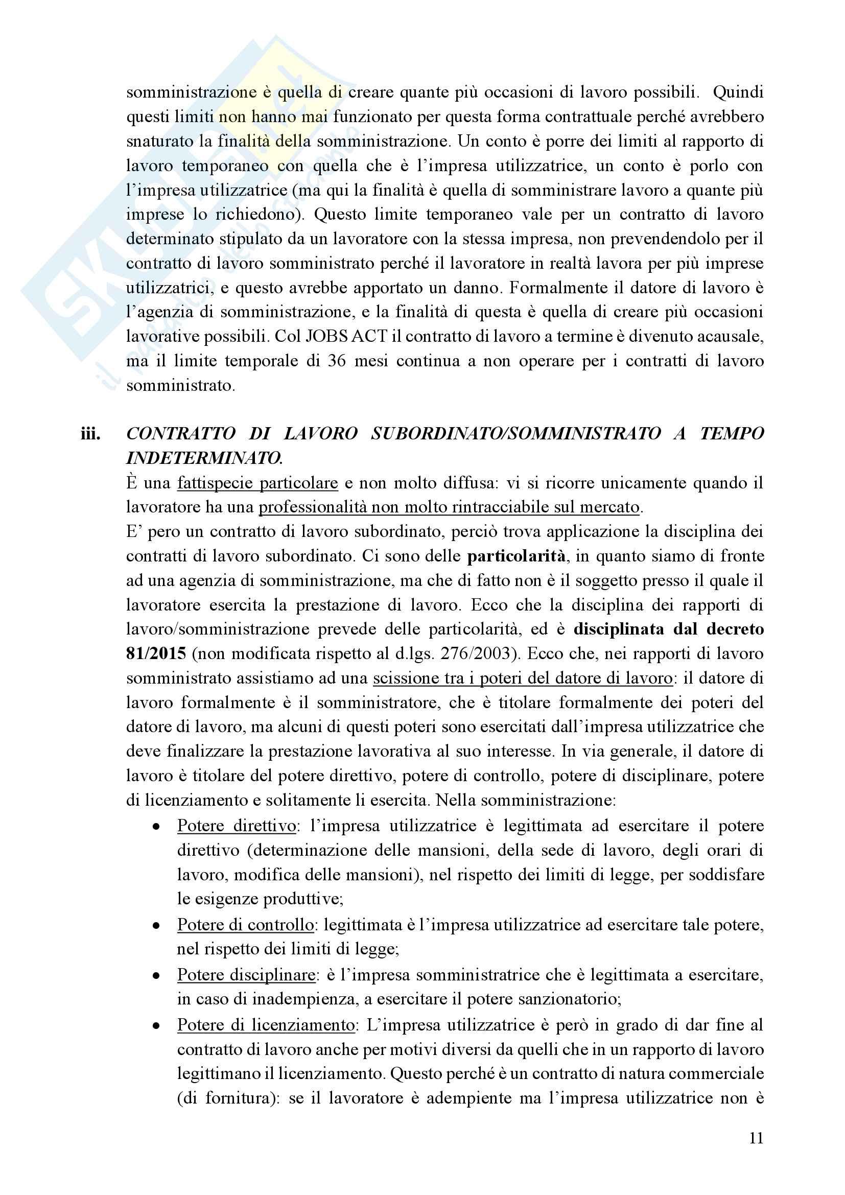 Diritto del lavoro privato- Prof. Faleri Pag. 11
