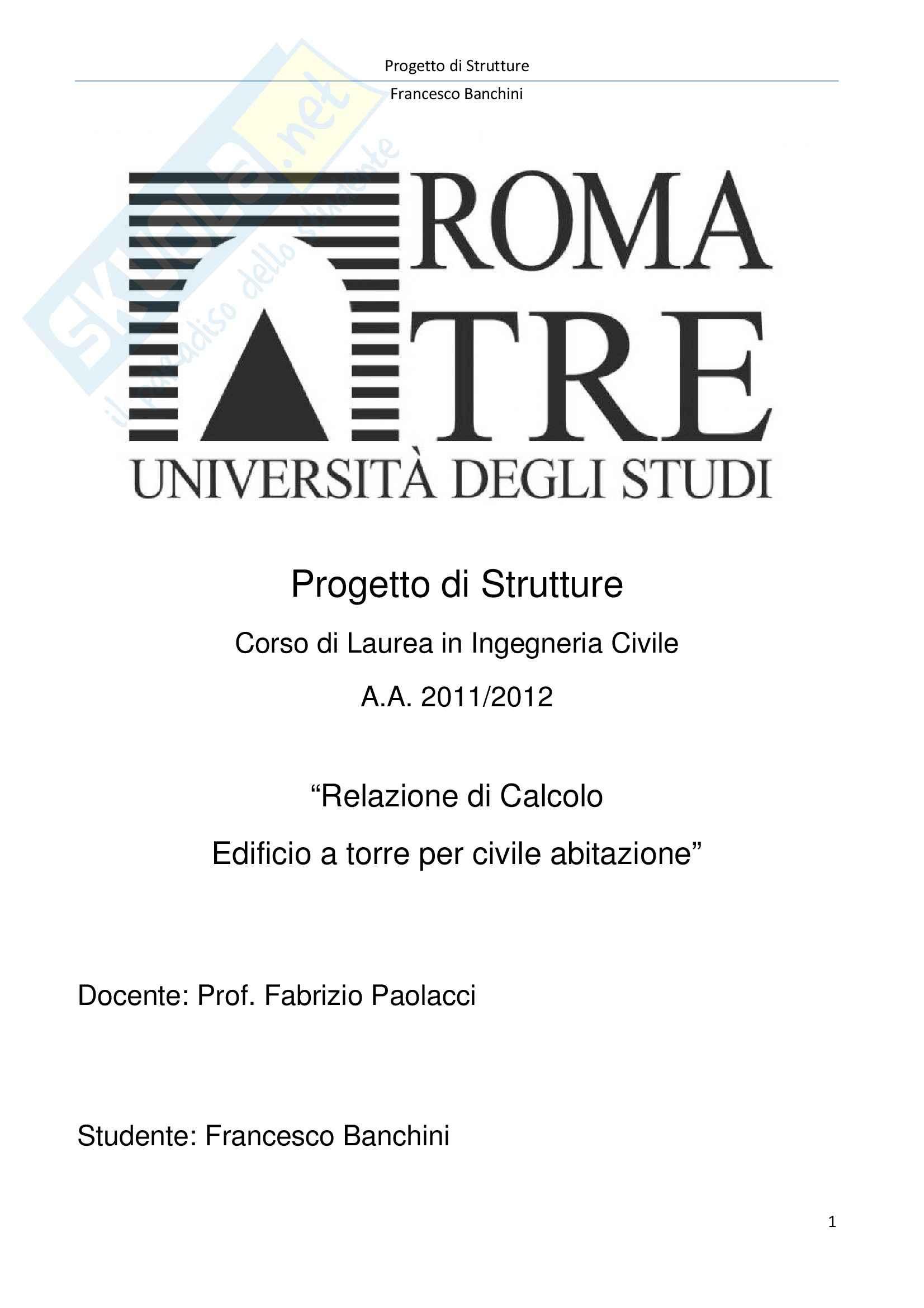 Prog. Strutture-Relazione di calcolo, Progetto di strutture