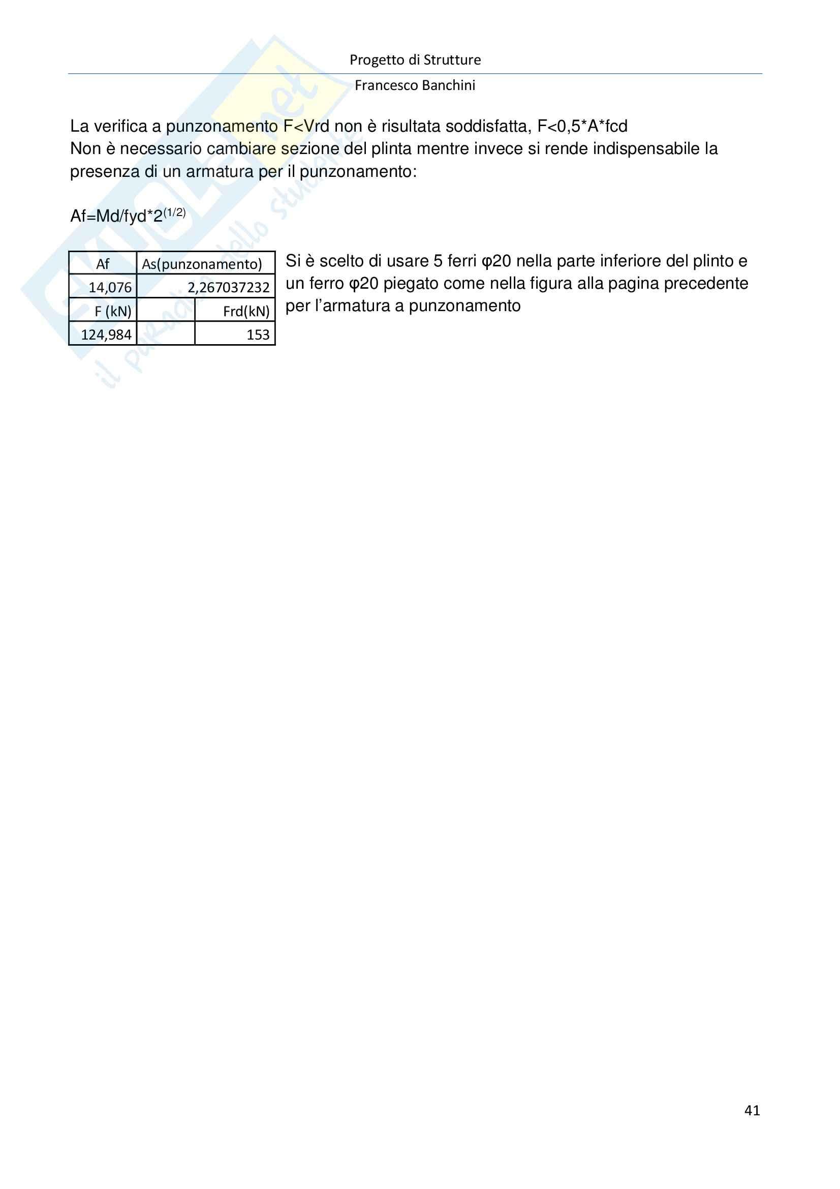Prog. Strutture-Relazione di calcolo, Progetto di strutture Pag. 41