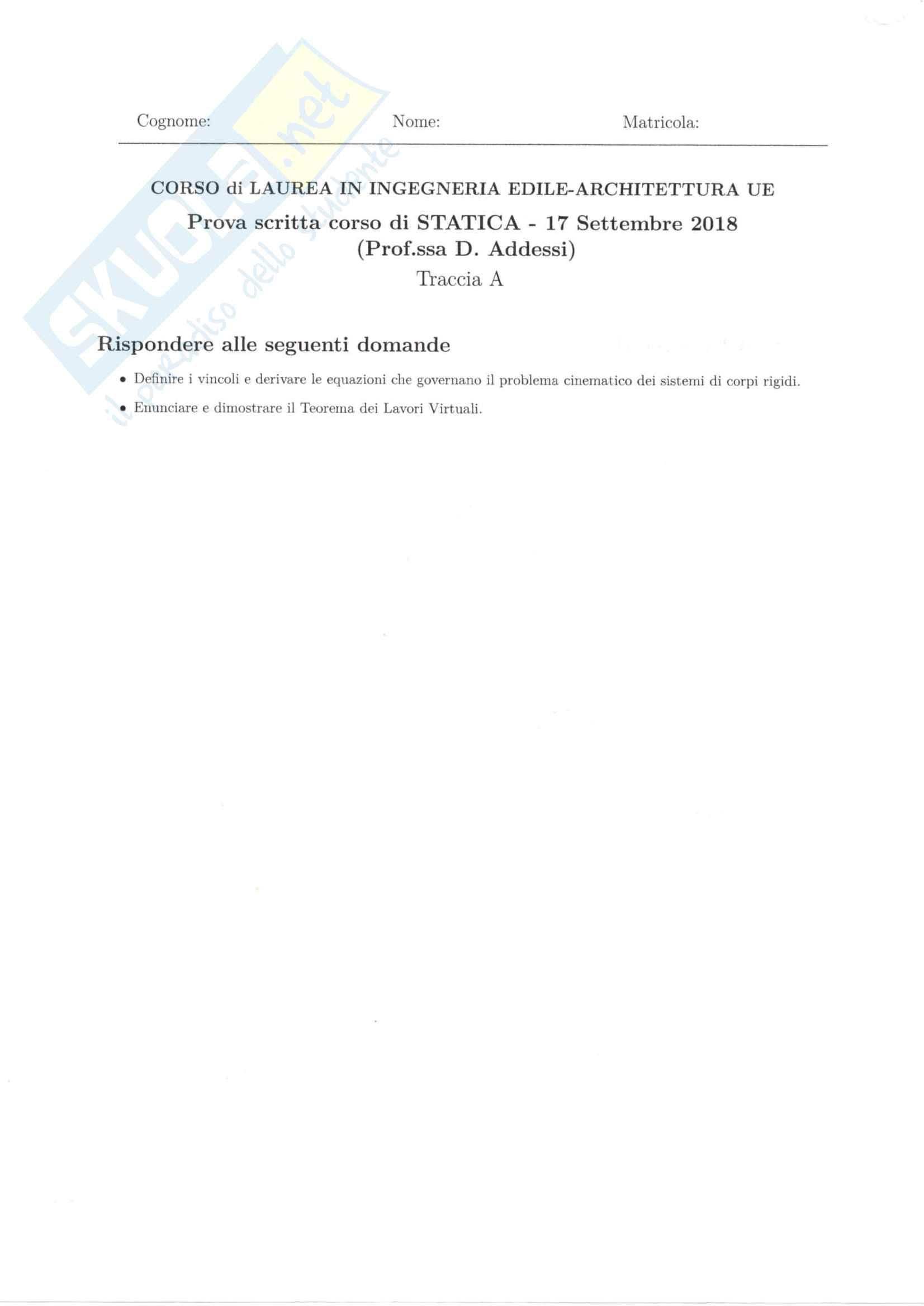Esami Svolti Statica Prof. Addessi Pag. 2