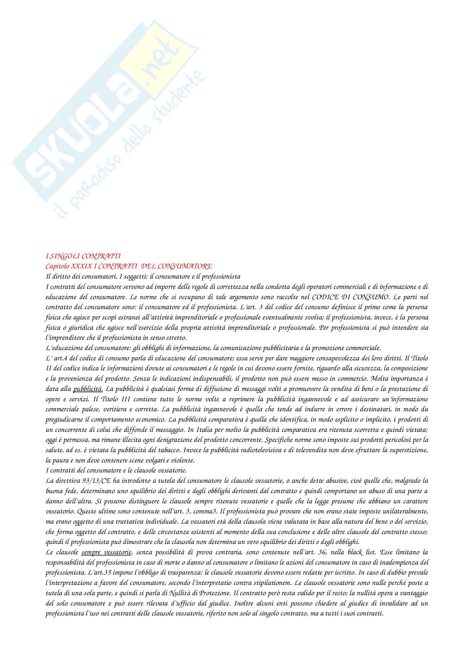 Riassunto esame Diritto privato, prof. Troiano, libro consigliato Manuale di diritto privato, Torrente, Schelsinger Pag. 61