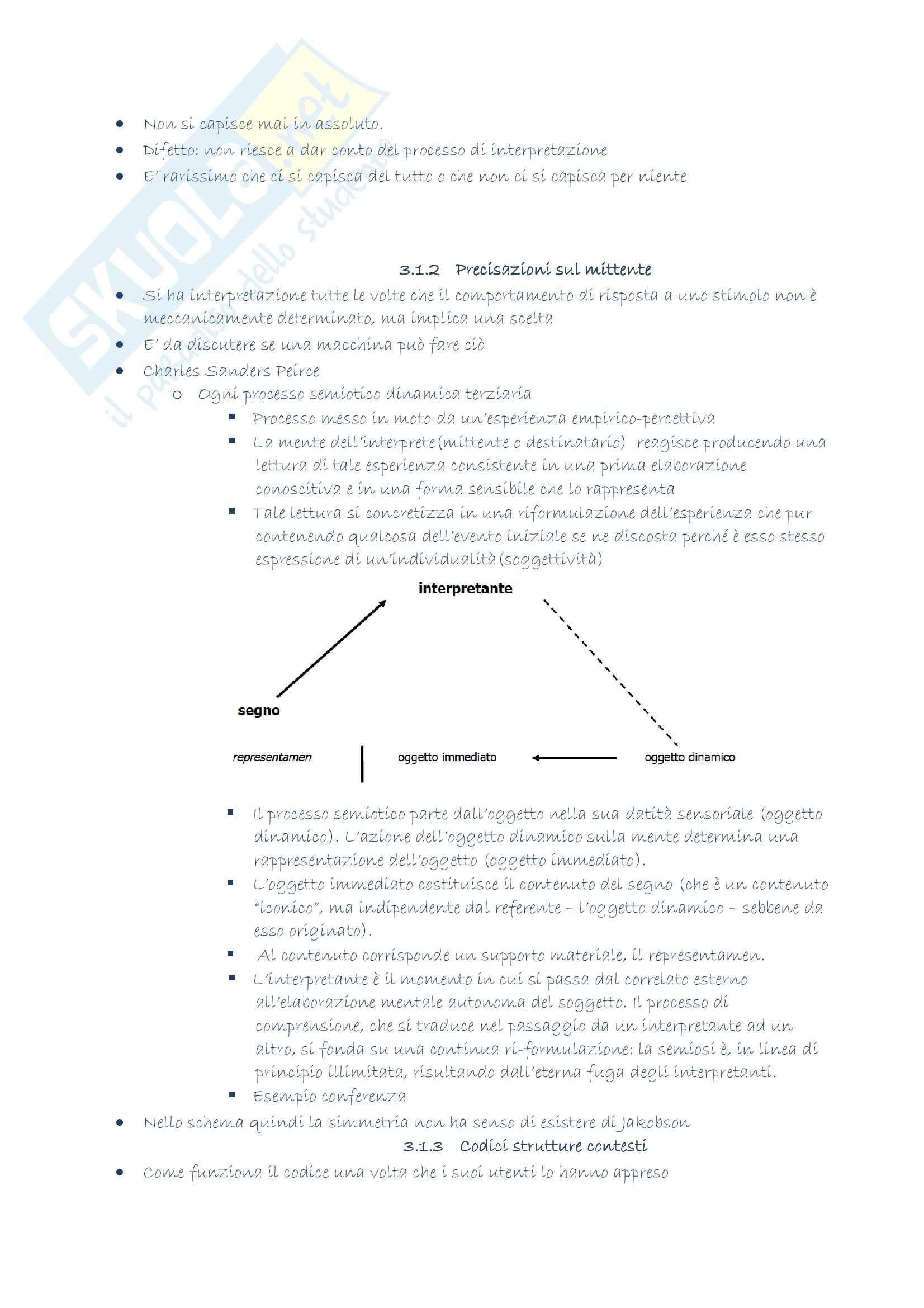 Riassunto esame Filosofia del linguaggio, prof. Gensini, libro consigliato Elementi di semiotica, Gensini Pag. 11