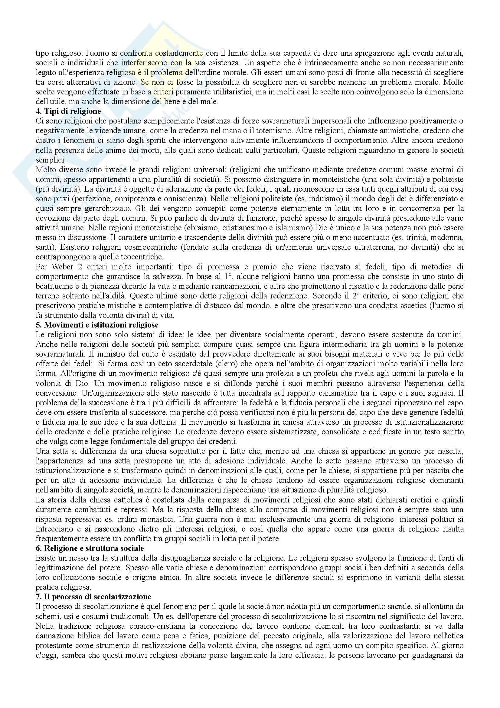 Riassunto esame Istituzioni di Sociologia, prof. Ravelli, libro consigliato Corso di sociologia, Bagnasco, Barbagli, Cavalli Pag. 16