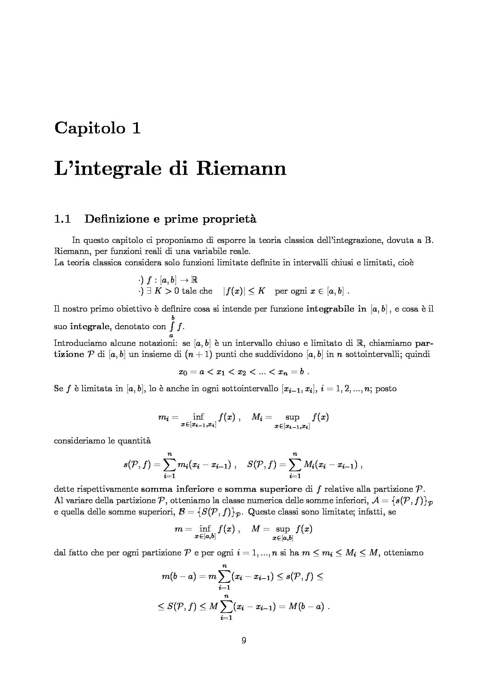 Dispensa di Matematica - Analisi matematica 2