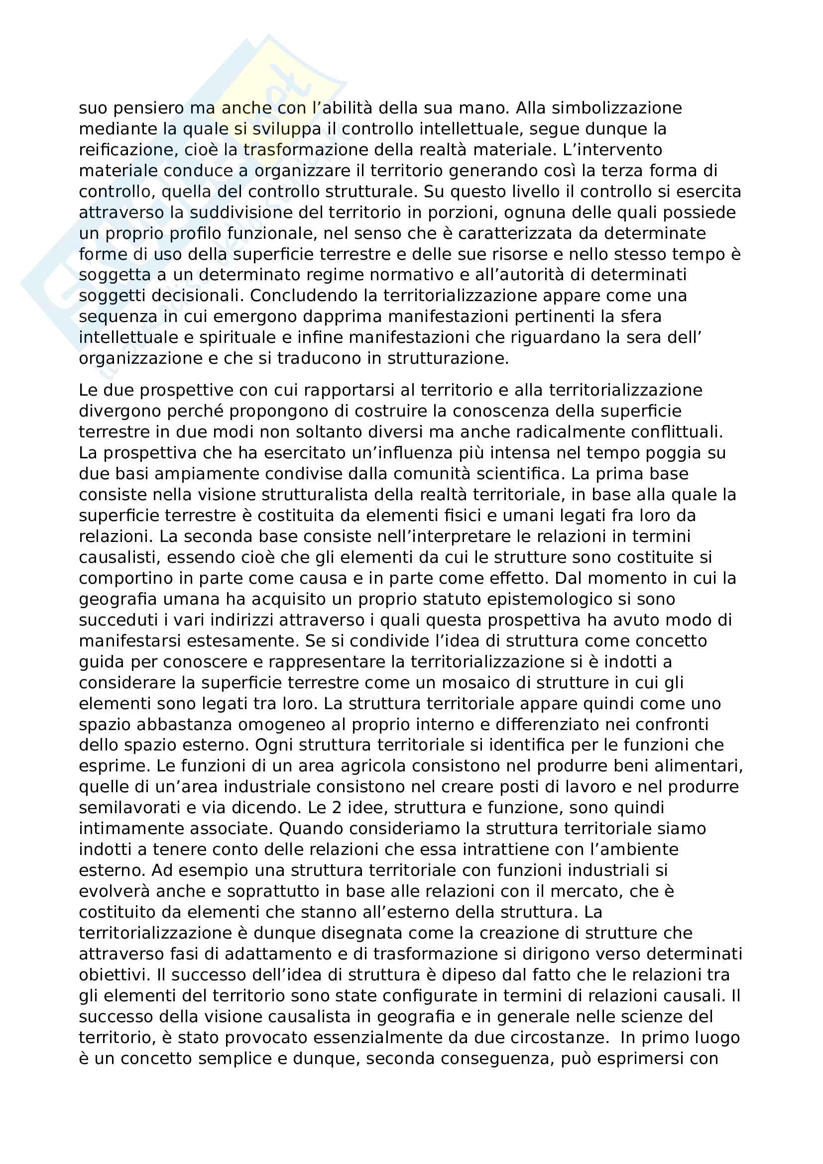 Riassunto esame geografia culturale, prof. Barilaro, libro consigliato Le grammatiche della geografia, Vallega Pag. 2