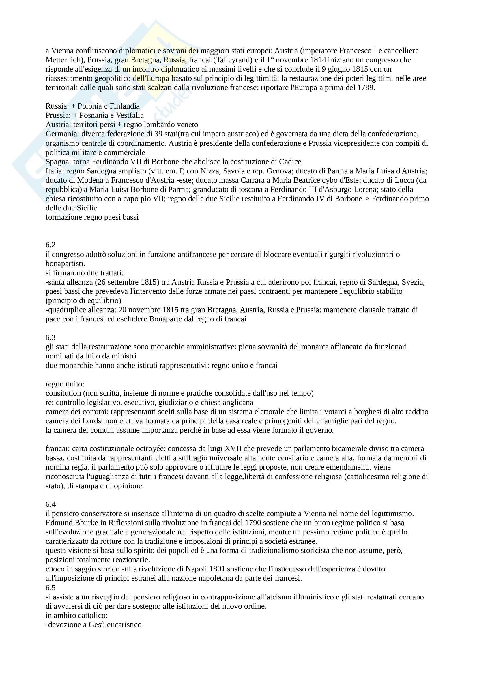 Riassunto esame Storia Contemporanea, prof. Malatesta, libro consigliato L'Età Contemporanea dalla Grande Guerra a Oggi, Banti Pag. 1