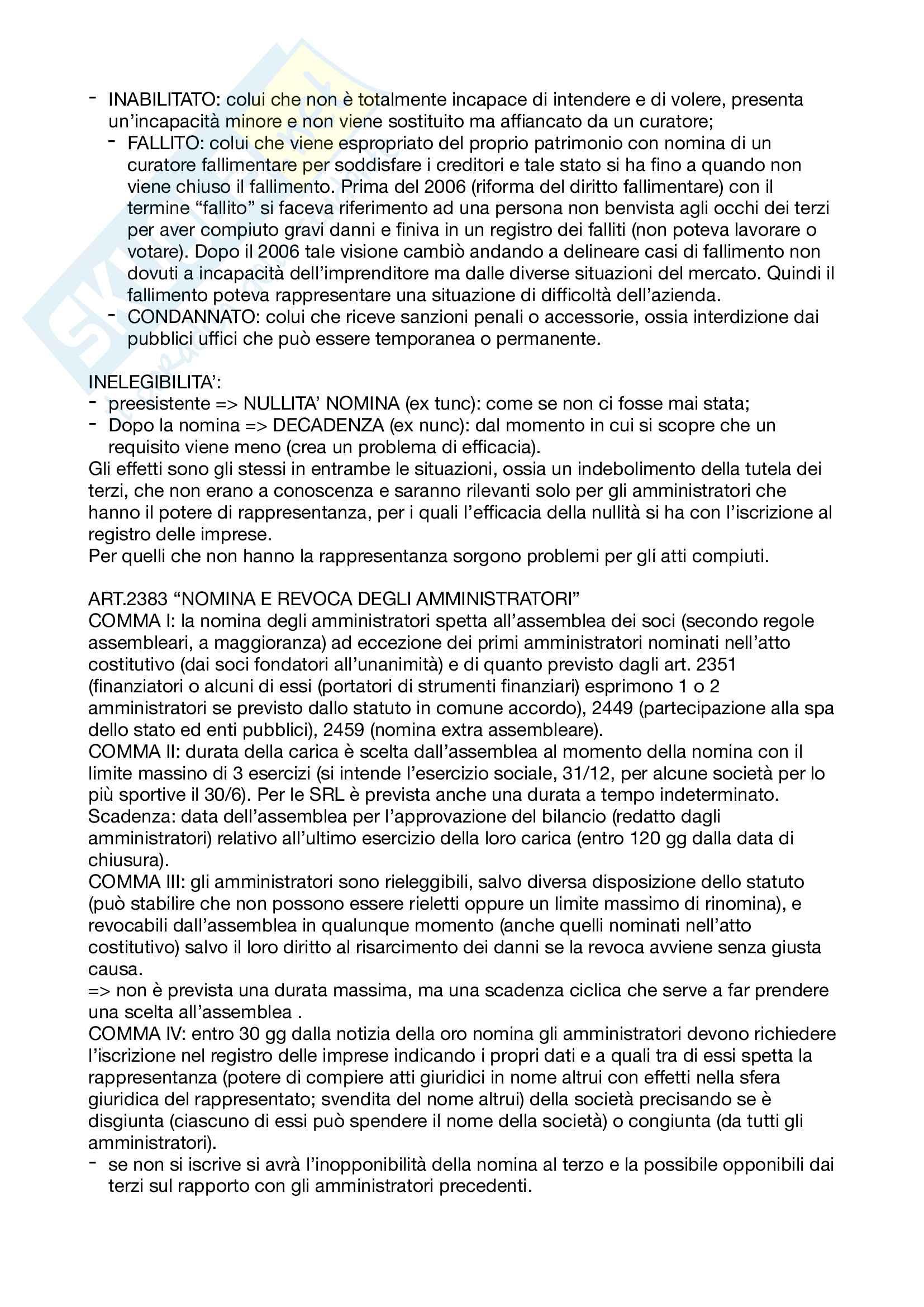 Appunti Diritto commerciale corso avanzato Pag. 6