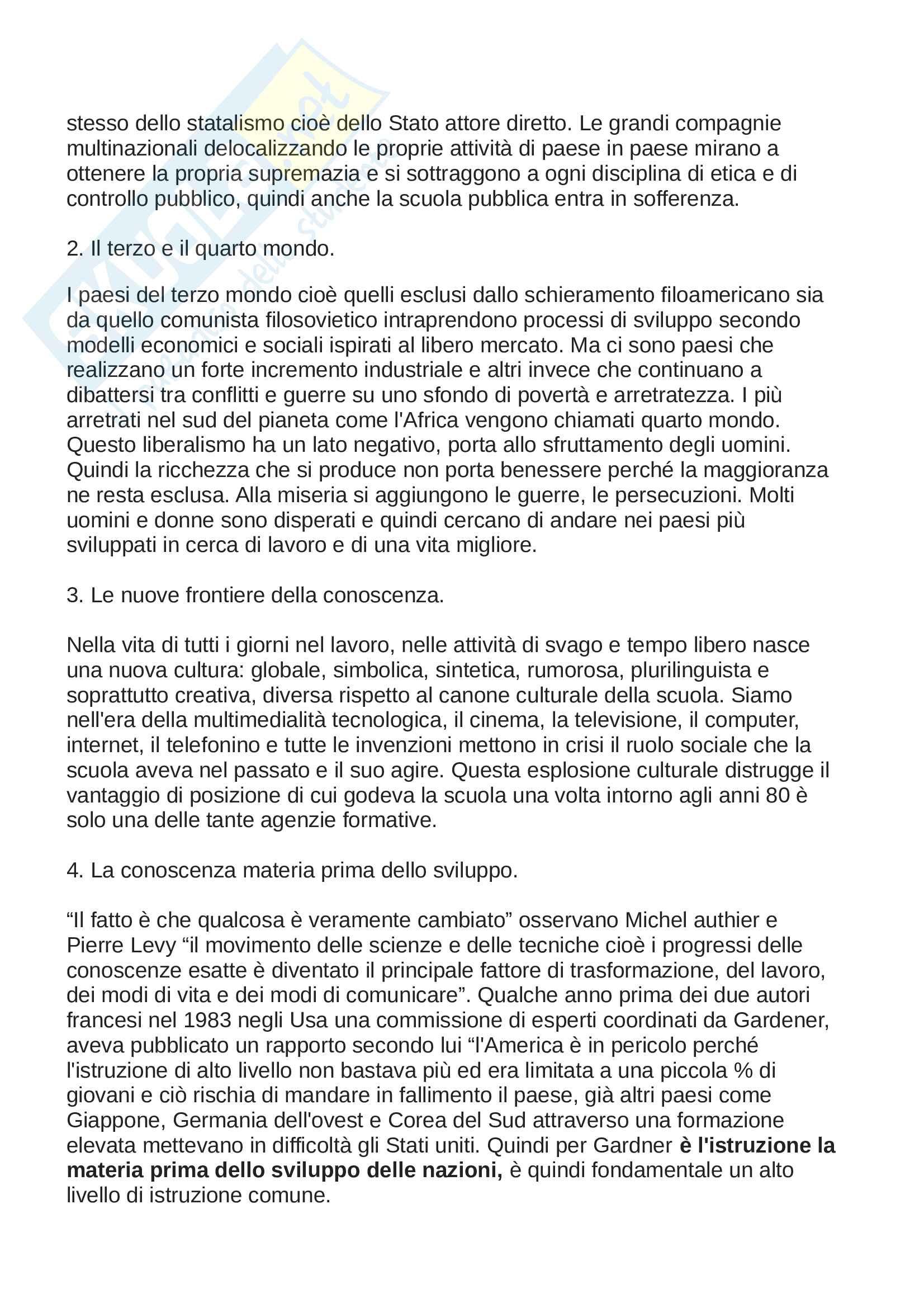 Riassunto esame storia dell'educazione e del sistema scolastico, prof.d'Arcangeli, libro consigliato La scuola della Repubblica, un ideale non realizzato, Alberti, A. Pag. 31