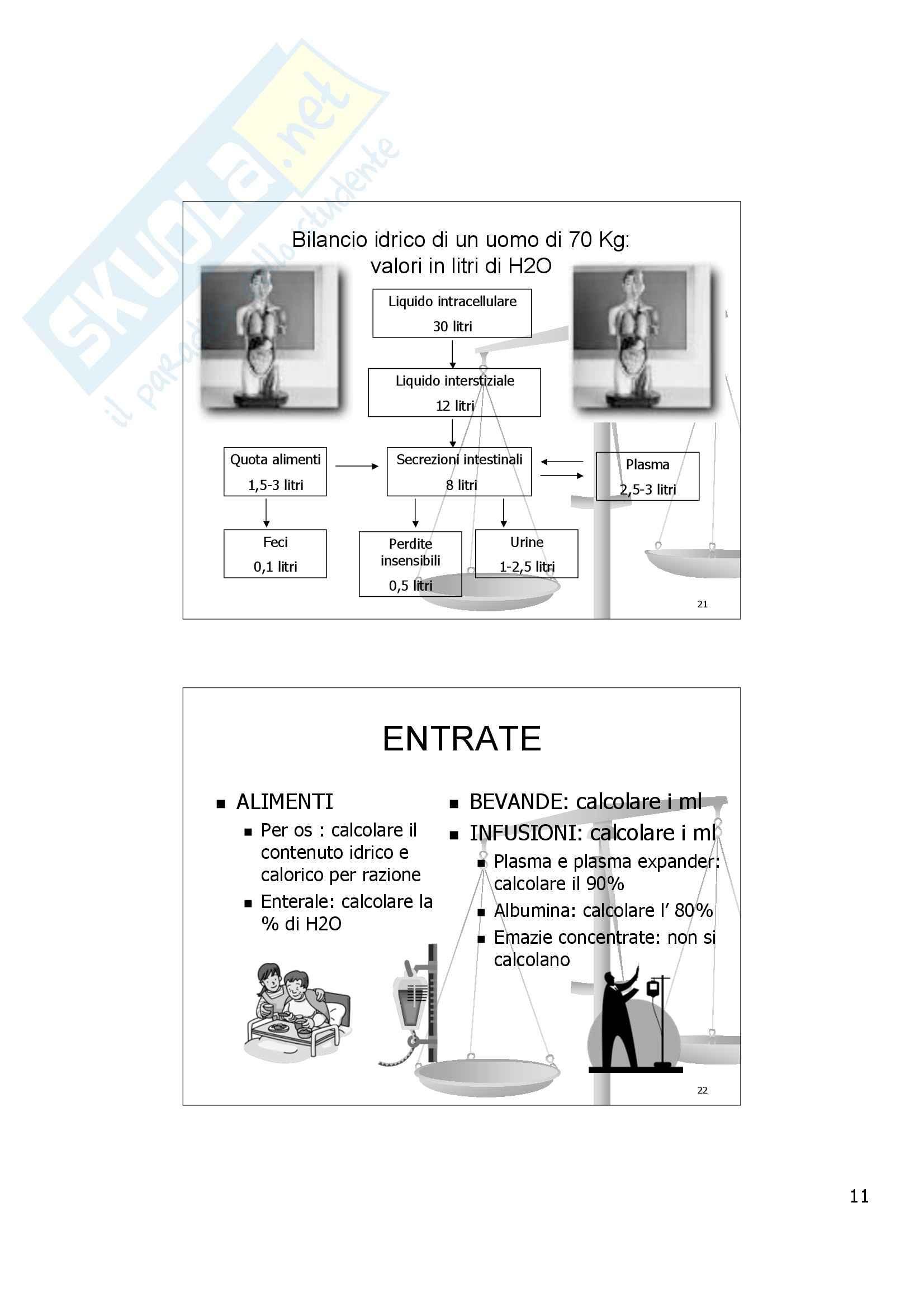 Scienze infermieristiche - il bilancio idrico Pag. 11