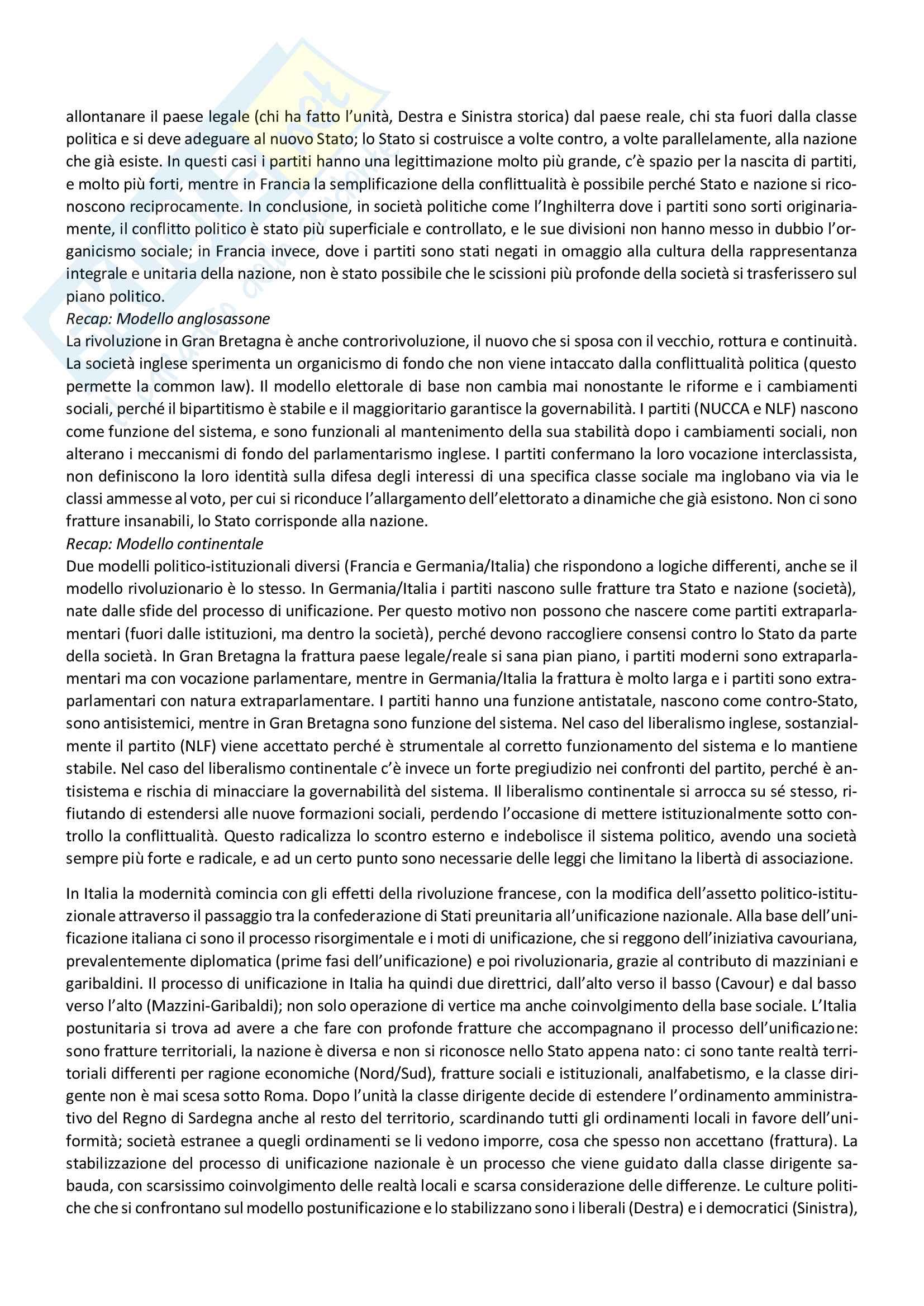 Riassunto storia dei partiti politici, prof. Capperucci, libro consigliato Storia politica della Repubblica di Simona Colarizi Pag. 11