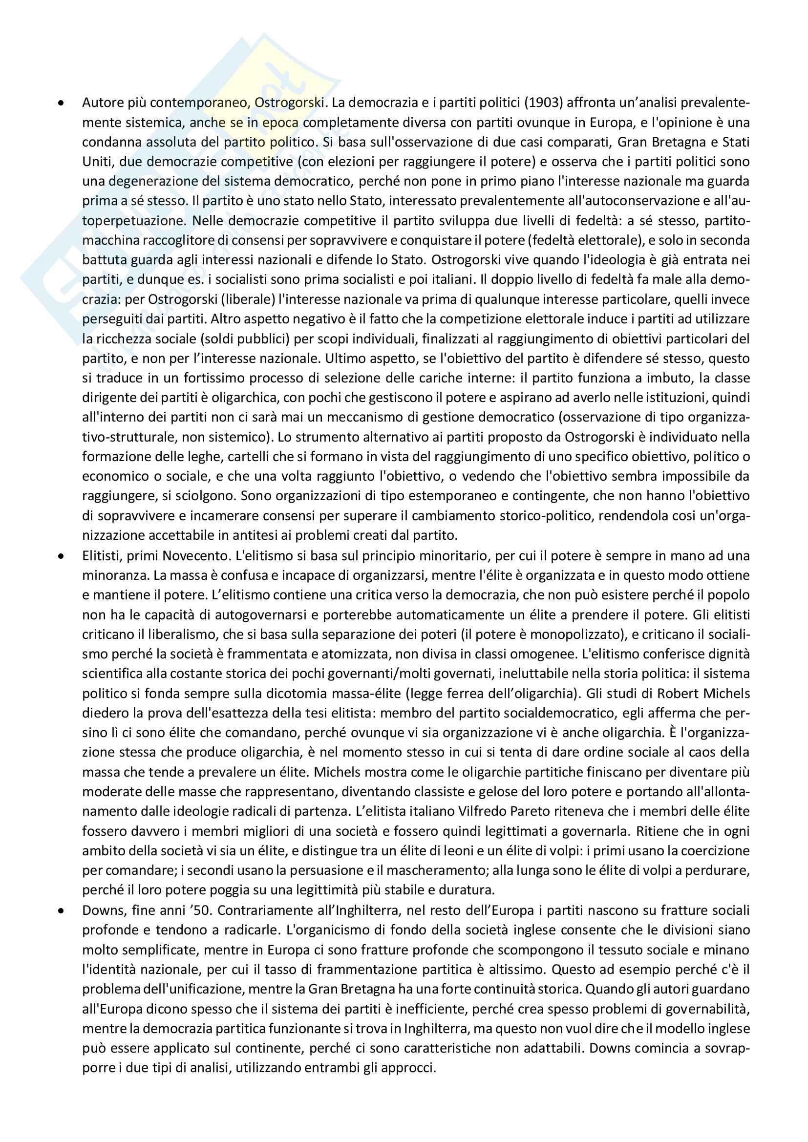 Riassunto storia dei partiti politici, prof. Capperucci, libro consigliato Storia politica della Repubblica di Simona Colarizi Pag. 2
