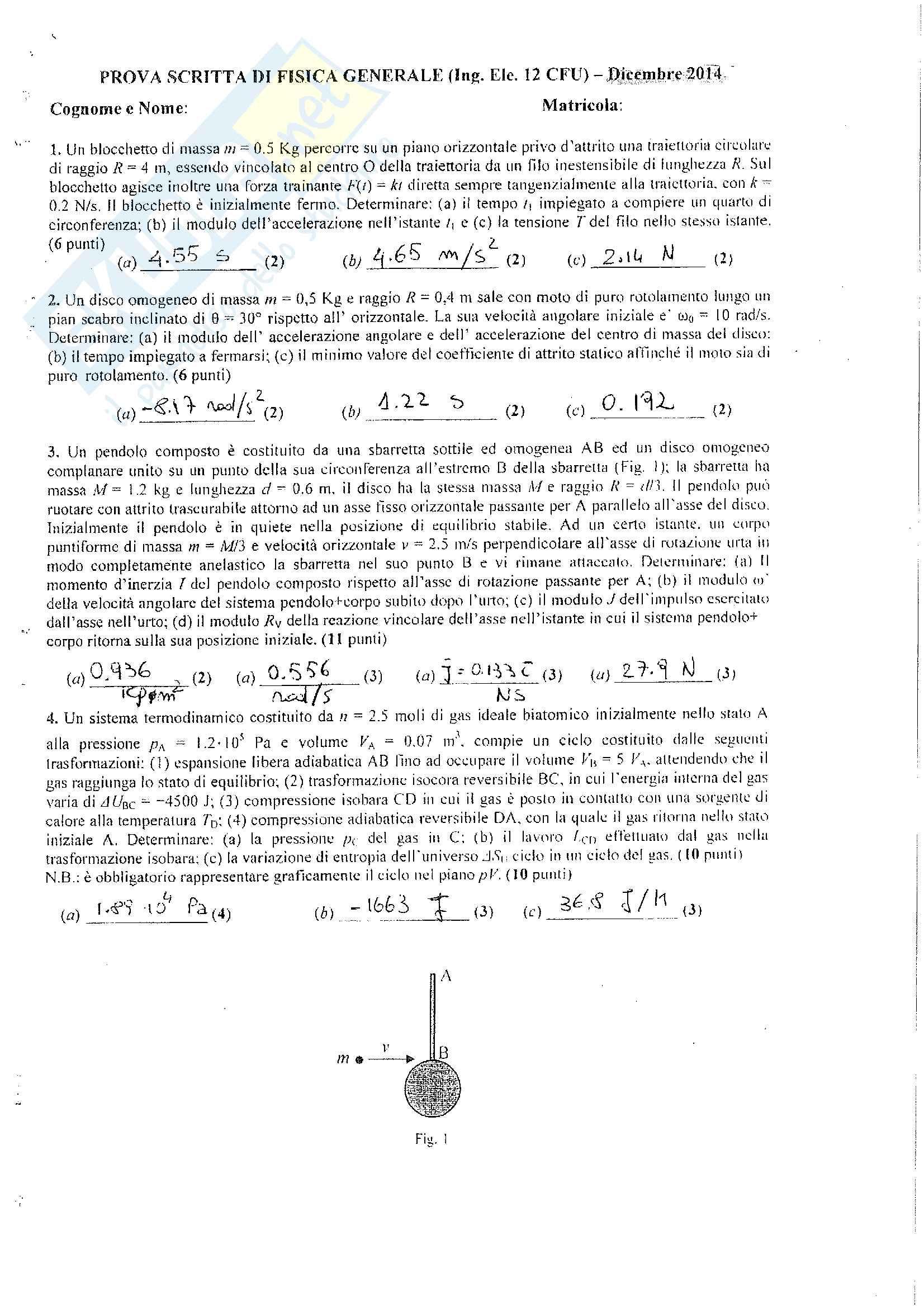 Fisica Generale: meccanica e termodinamica - Esercizi