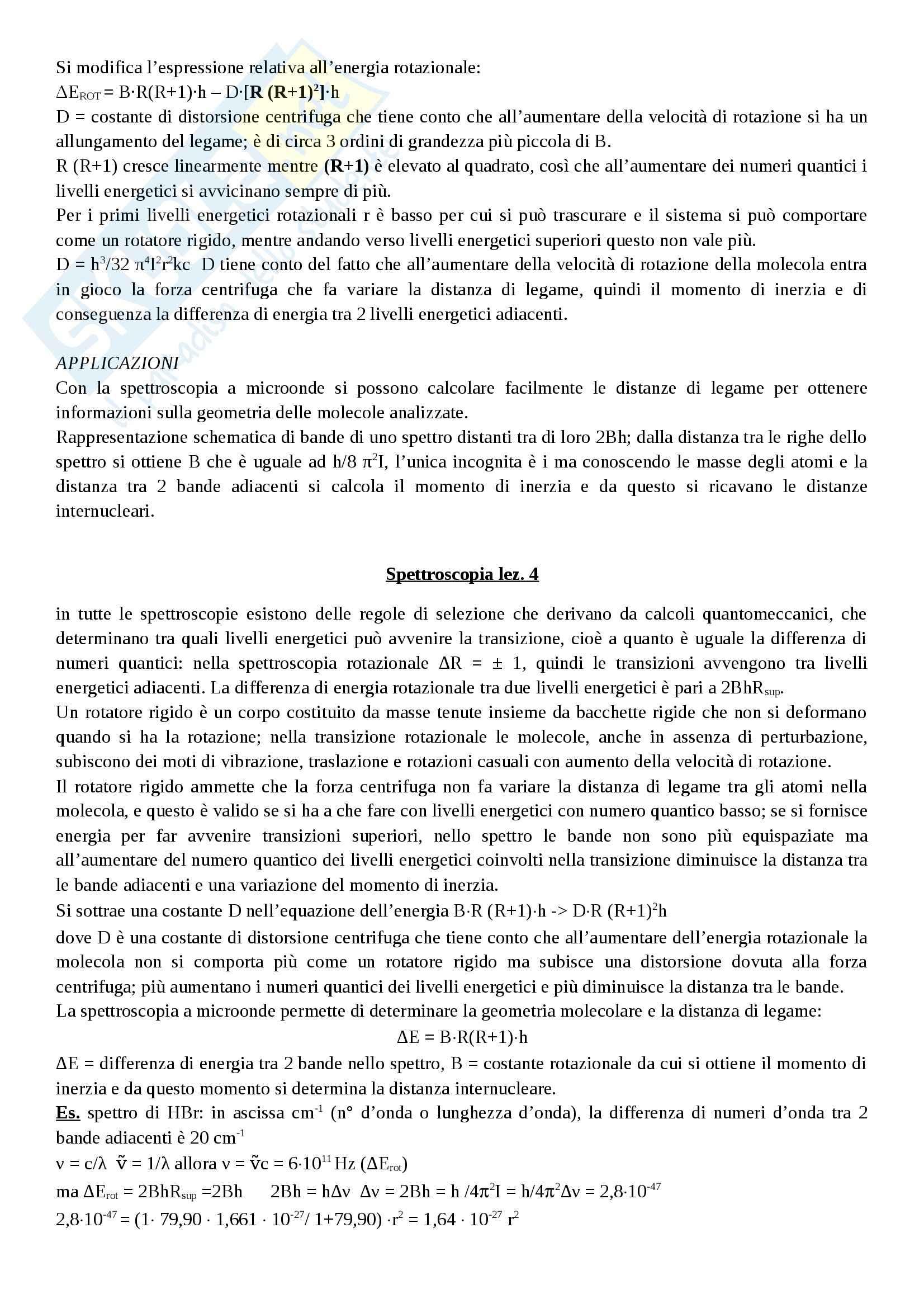 Spettroscopia - Appunti Pag. 11