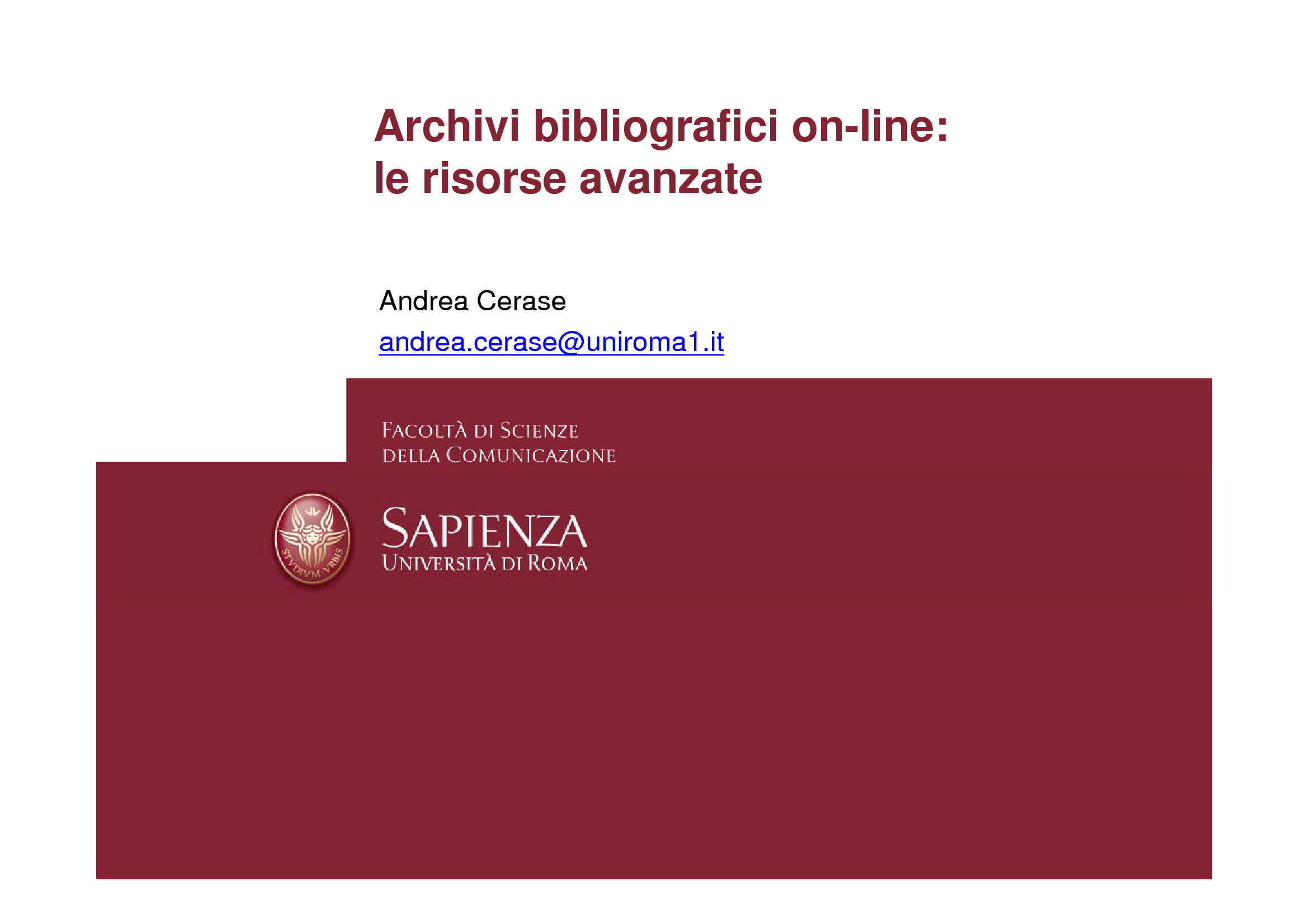 Tesi - Bibliografia online
