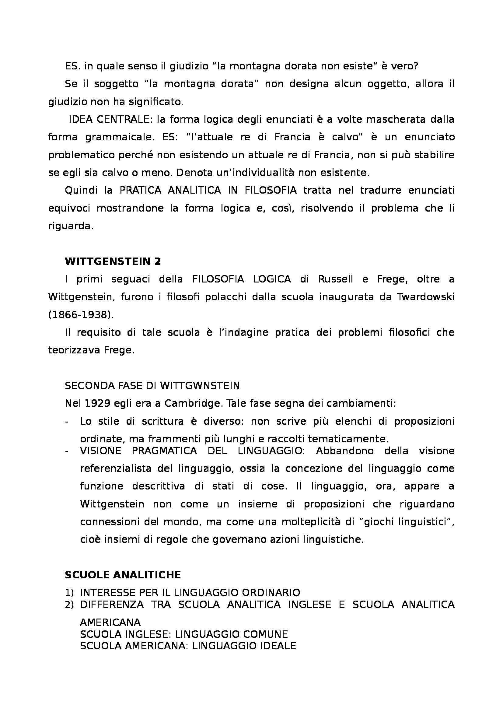 Riassunto esame Filosofia Contemporanea, prof. Palumbo, libro consigliato Breve Storia della Filosofia del 900, D'Agostini Pag. 36