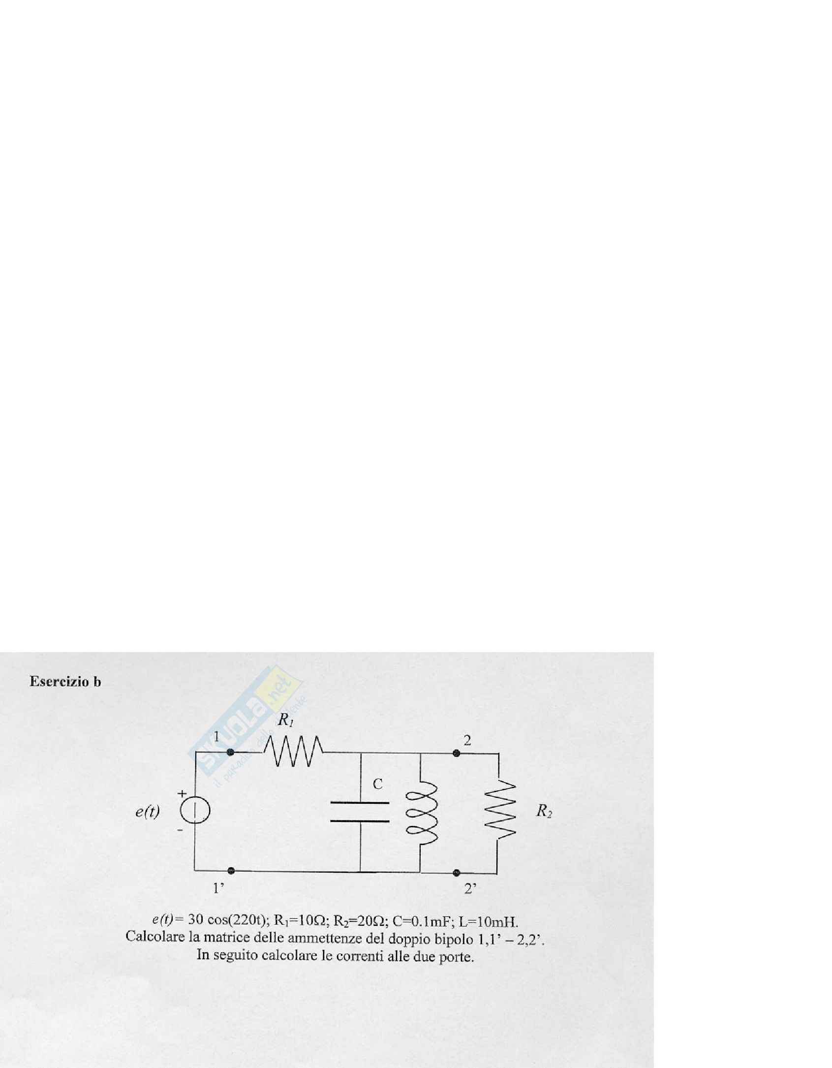 esercitazione R. Albanese Introduzione ai circuiti