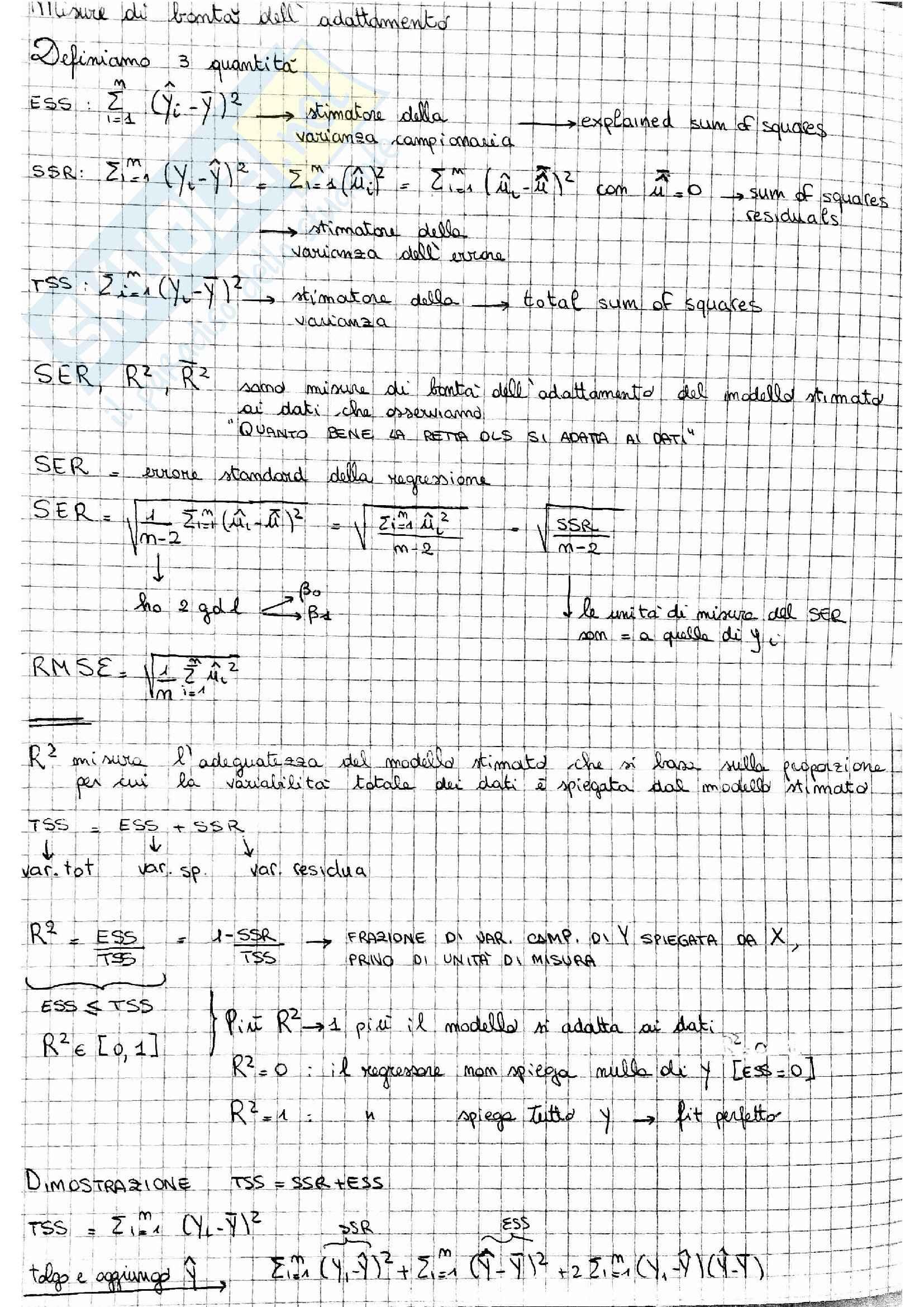 Regressione lineare OLS Pag. 11