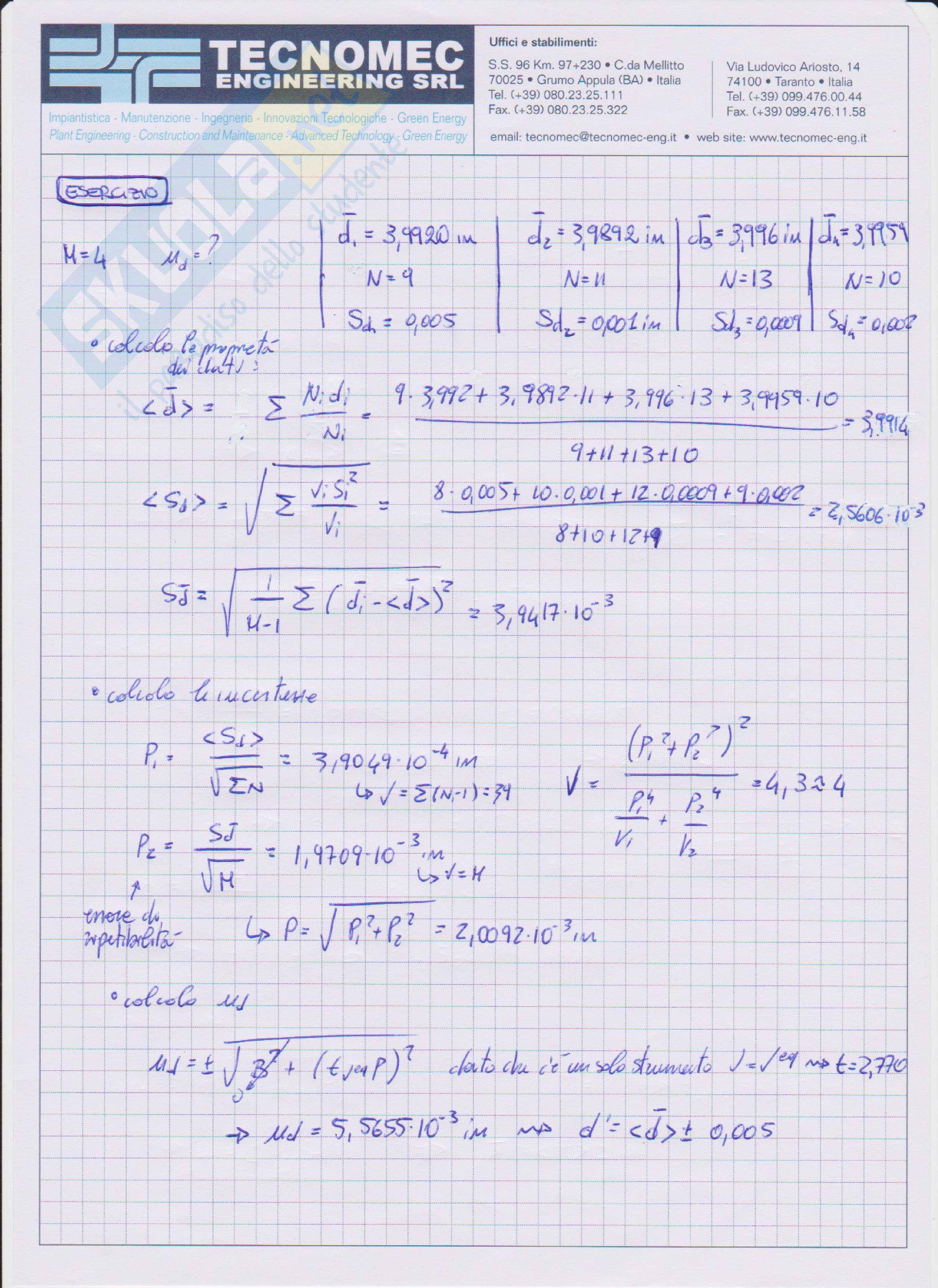 Appunti di Misure meccaniche e termiche Pag. 66