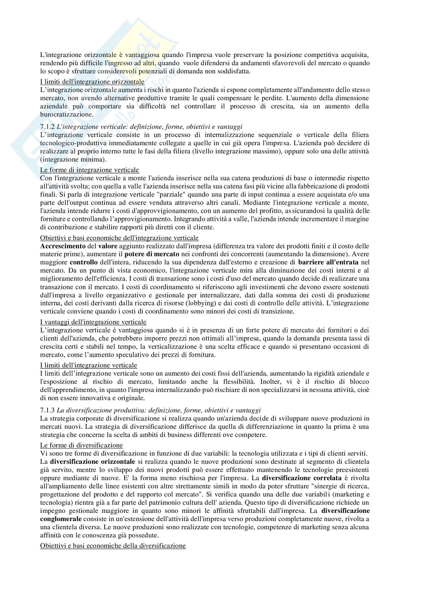 Riassunto esame Economia e management delle imprese, prof. Chiacchierini, libro consigliato Economia e management delle imprese, strategie e strumenti per la competitività e la gestione aziendale,Tunisini, Pencarelli, Ferrucci Pag. 31