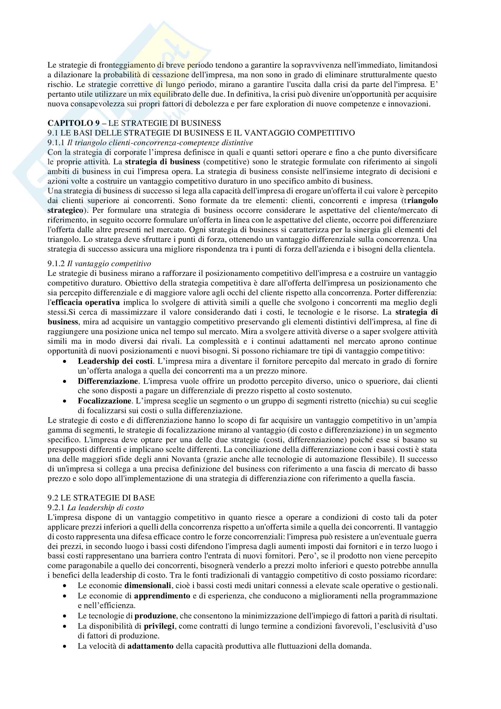 Riassunto esame Economia e management delle imprese, prof. Chiacchierini, libro consigliato Economia e management delle imprese, strategie e strumenti per la competitività e la gestione aziendale,Tunisini, Pencarelli, Ferrucci Pag. 36