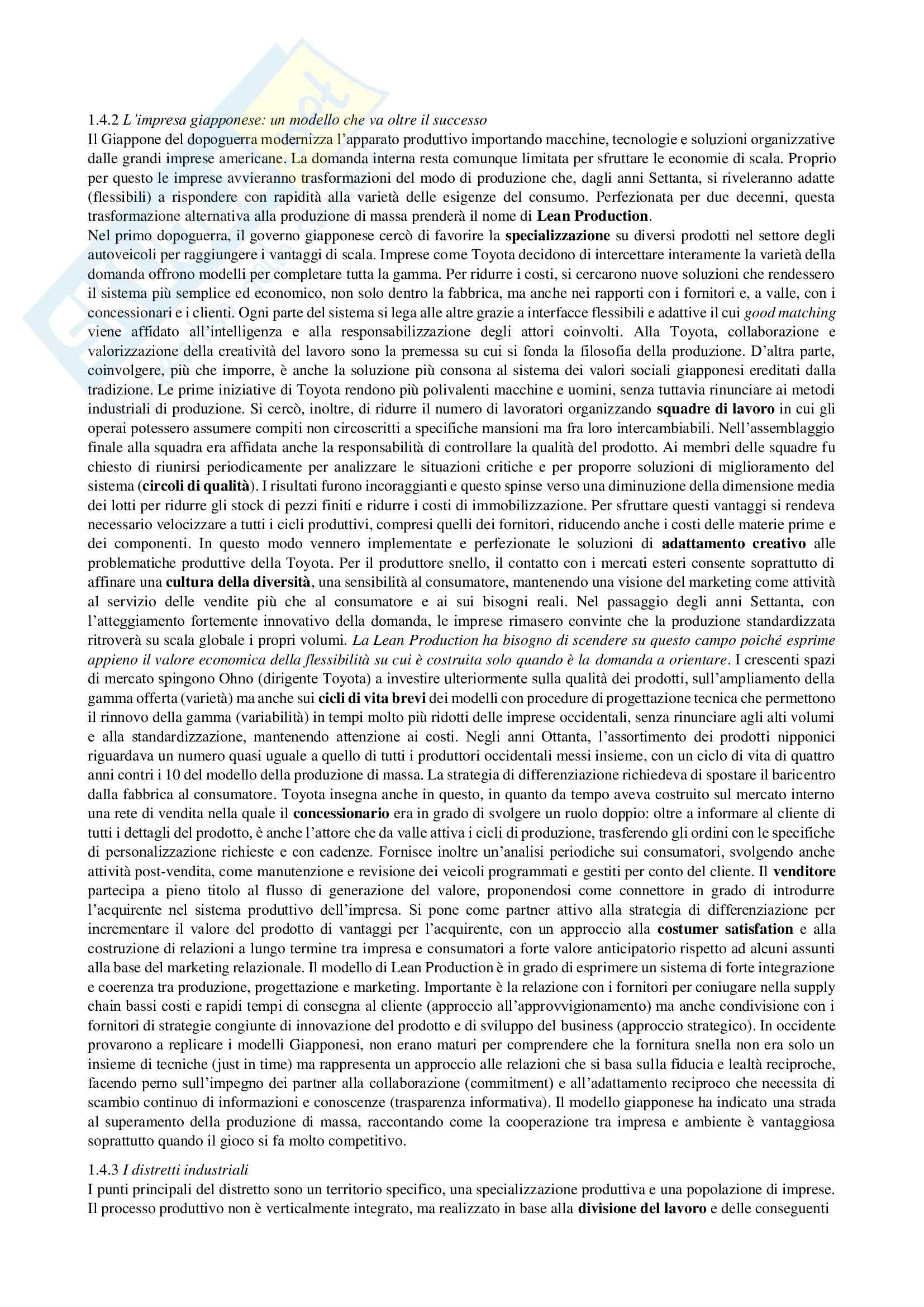 Riassunto esame Economia e management delle imprese, prof. Chiacchierini, libro consigliato Economia e management delle imprese, strategie e strumenti per la competitività e la gestione aziendale,Tunisini, Pencarelli, Ferrucci Pag. 6