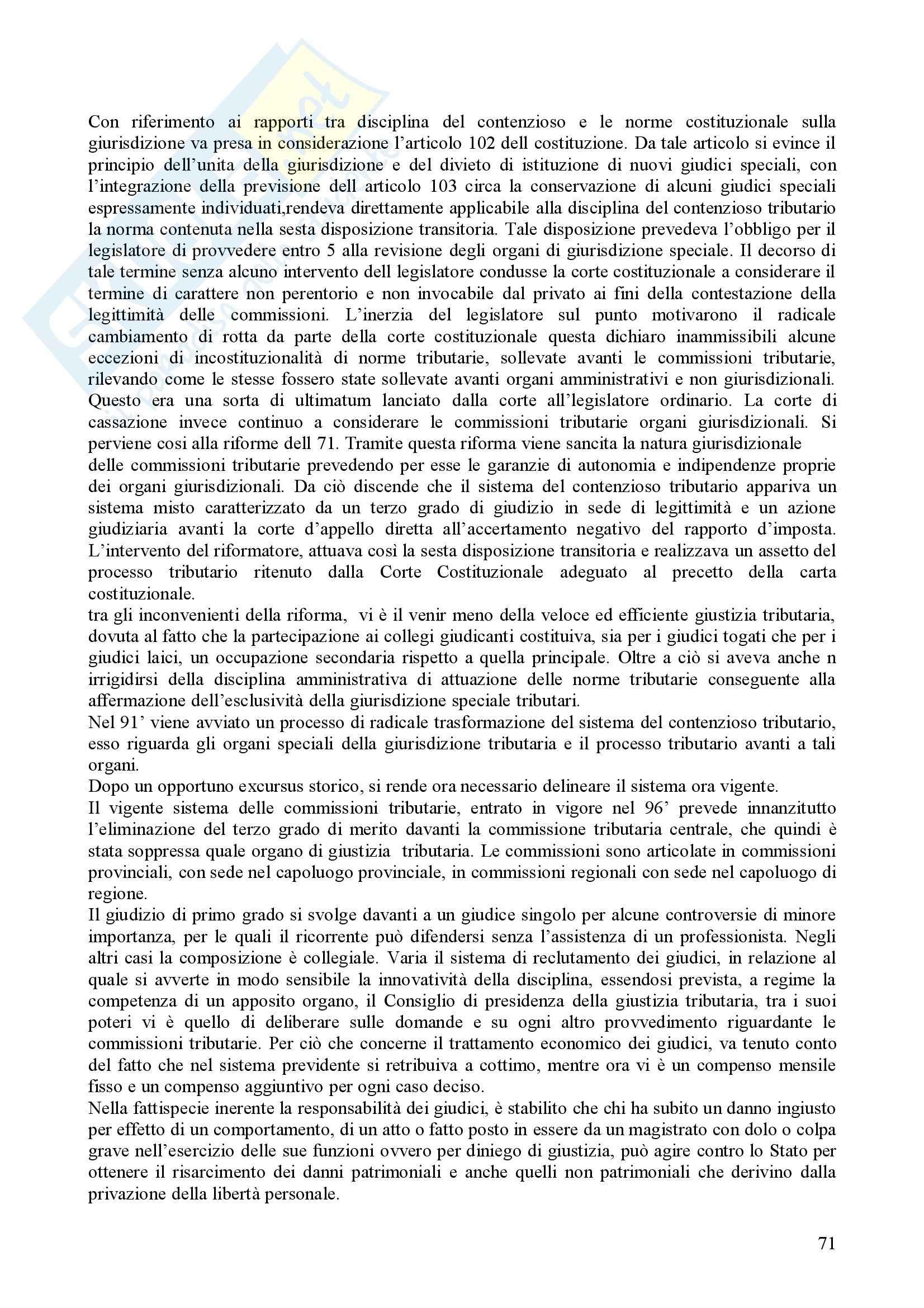 Riassunto esame diritto tributario, prof. Fantozzi Pag. 71