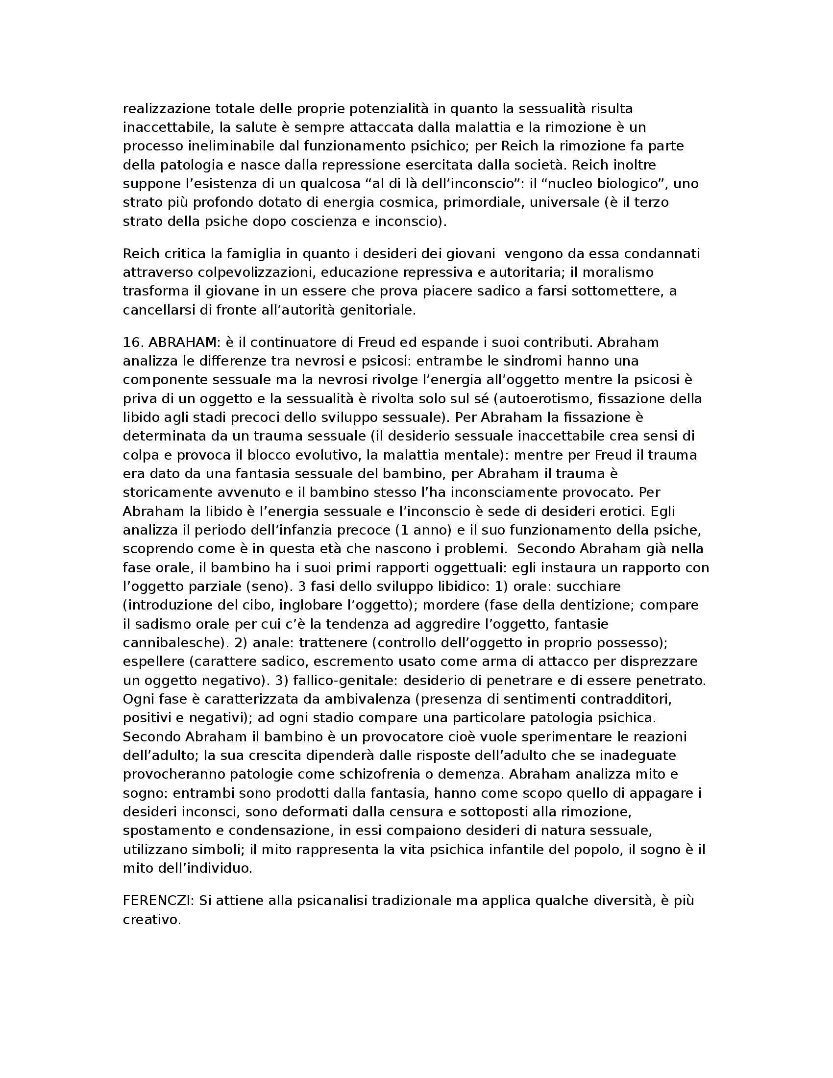 Psicologia dinamica - storia della psicoanalisi Pag. 6