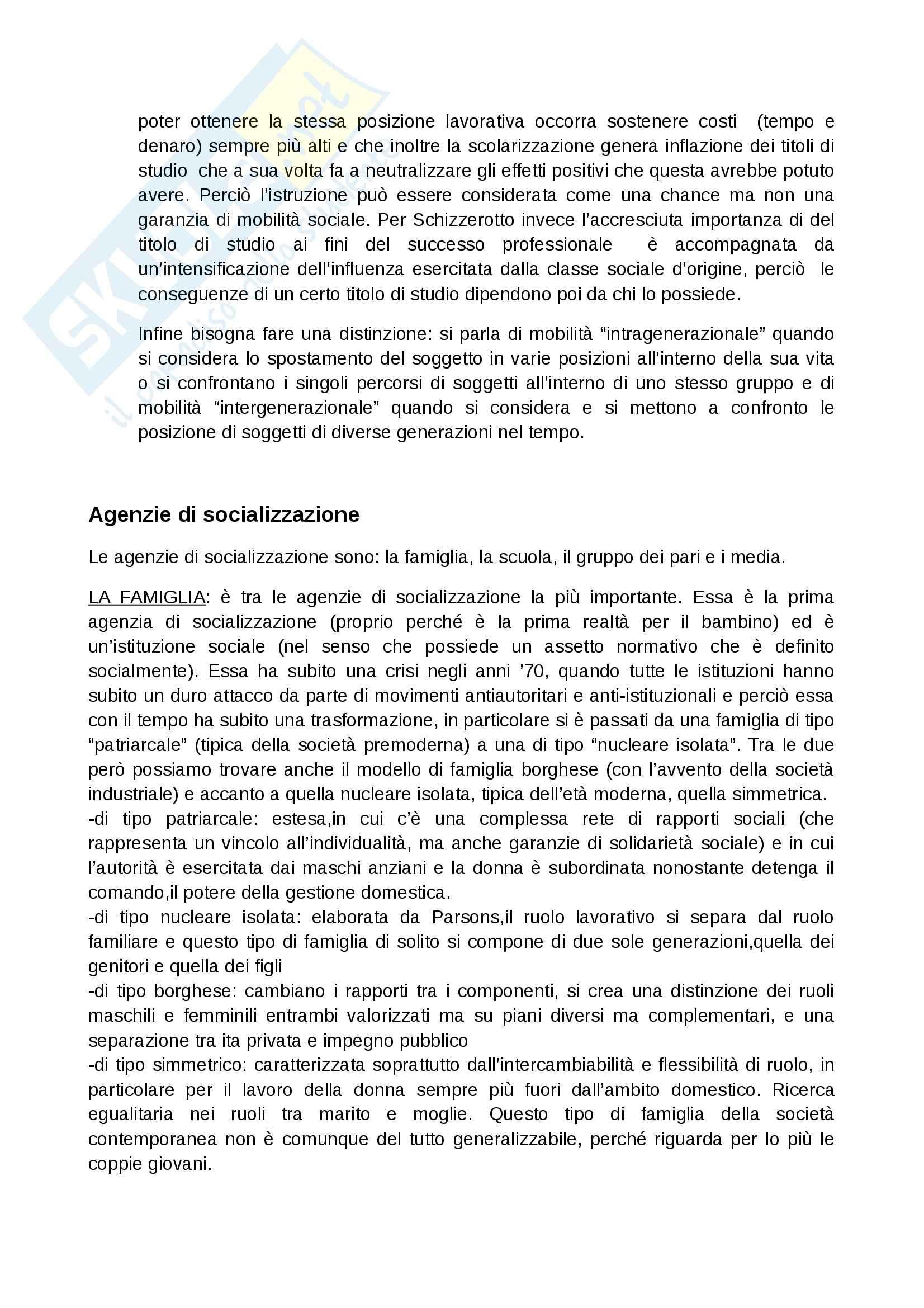 Riassunto esame Sociologia dell'educazione, prof. Giardiello, libro consigliato Società cultura educazione, Besozzi Pag. 11
