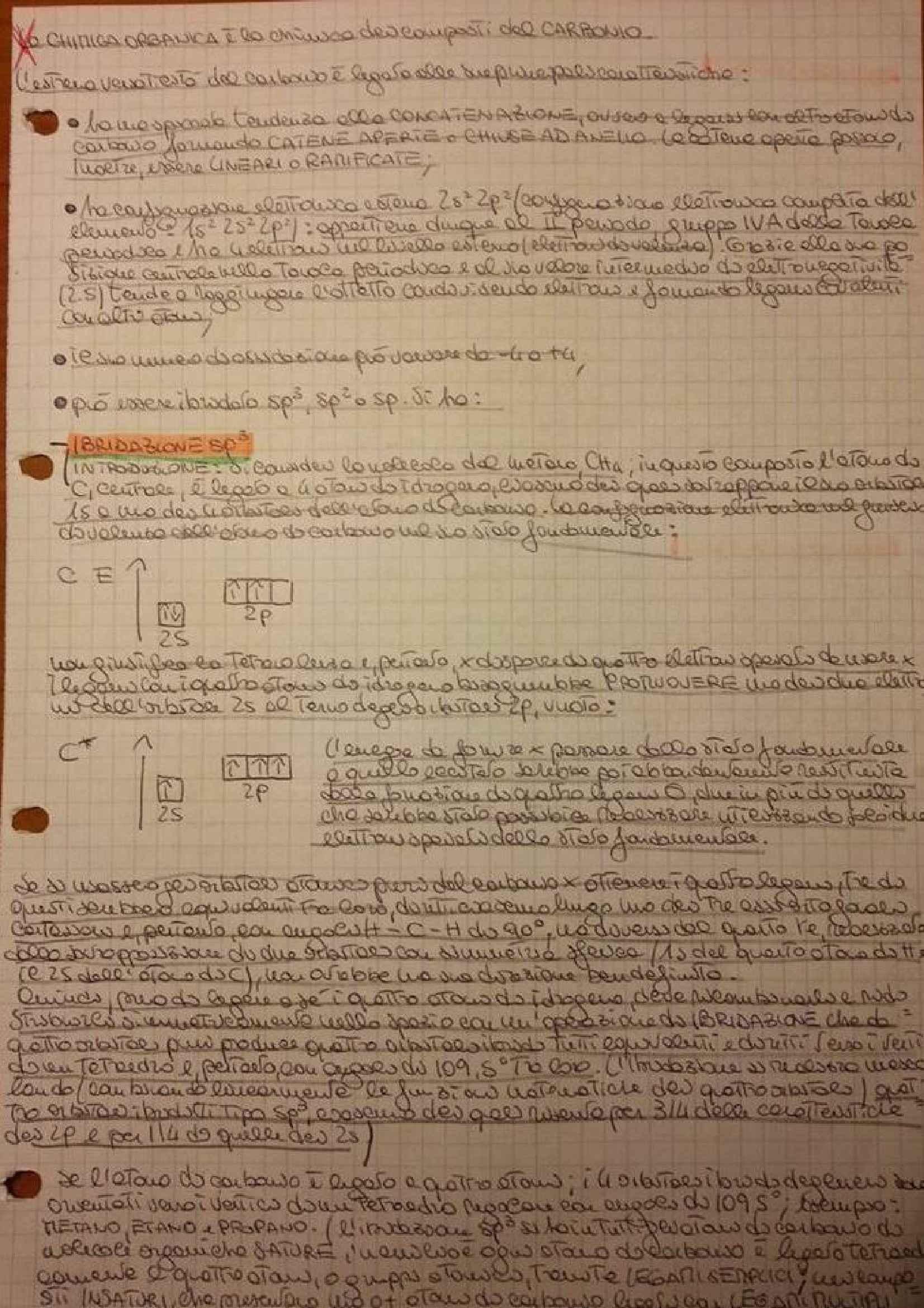 Chimica organica - Appunti ed esercizi
