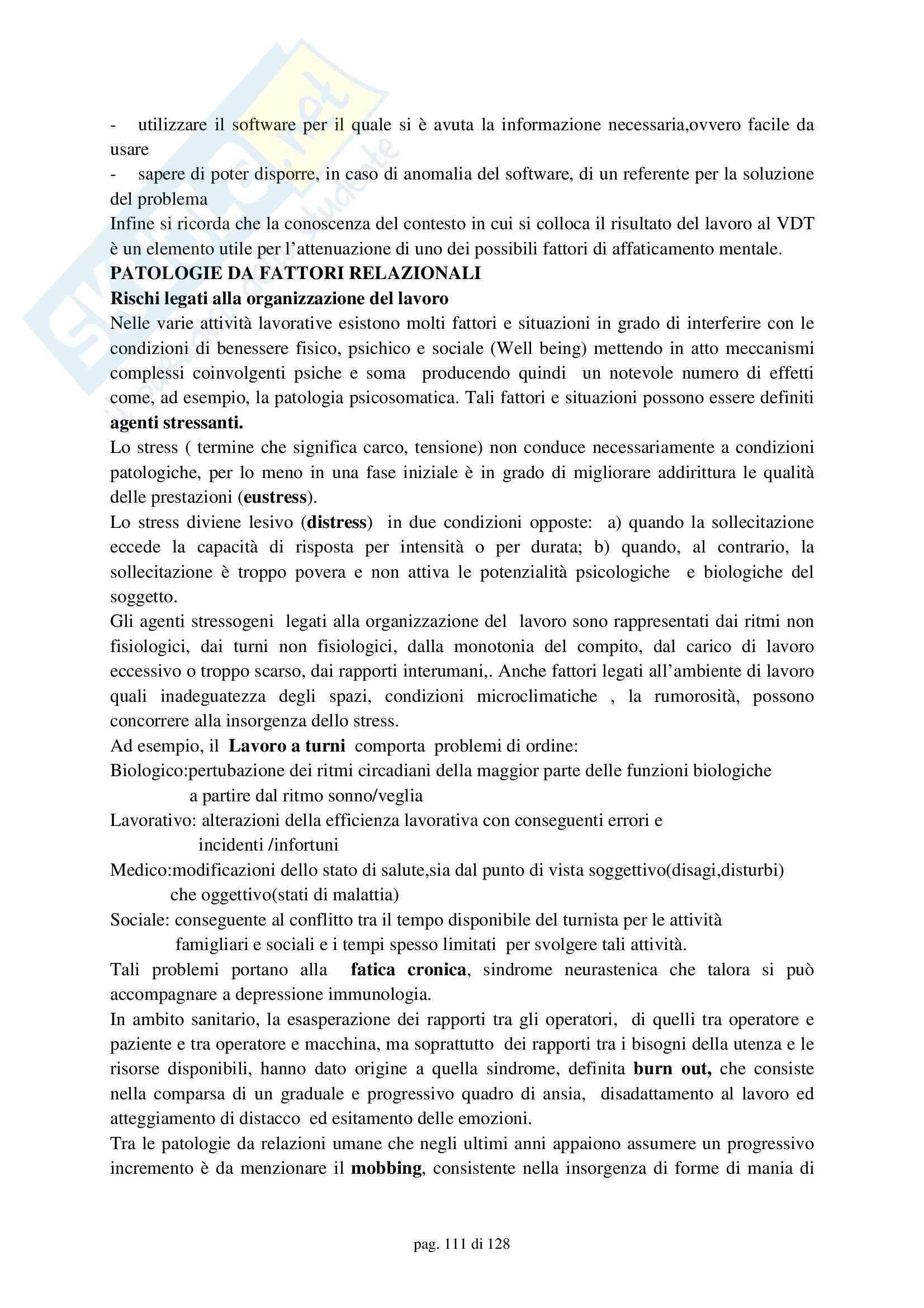 Medicina del lavoro – Compendio Pag. 111