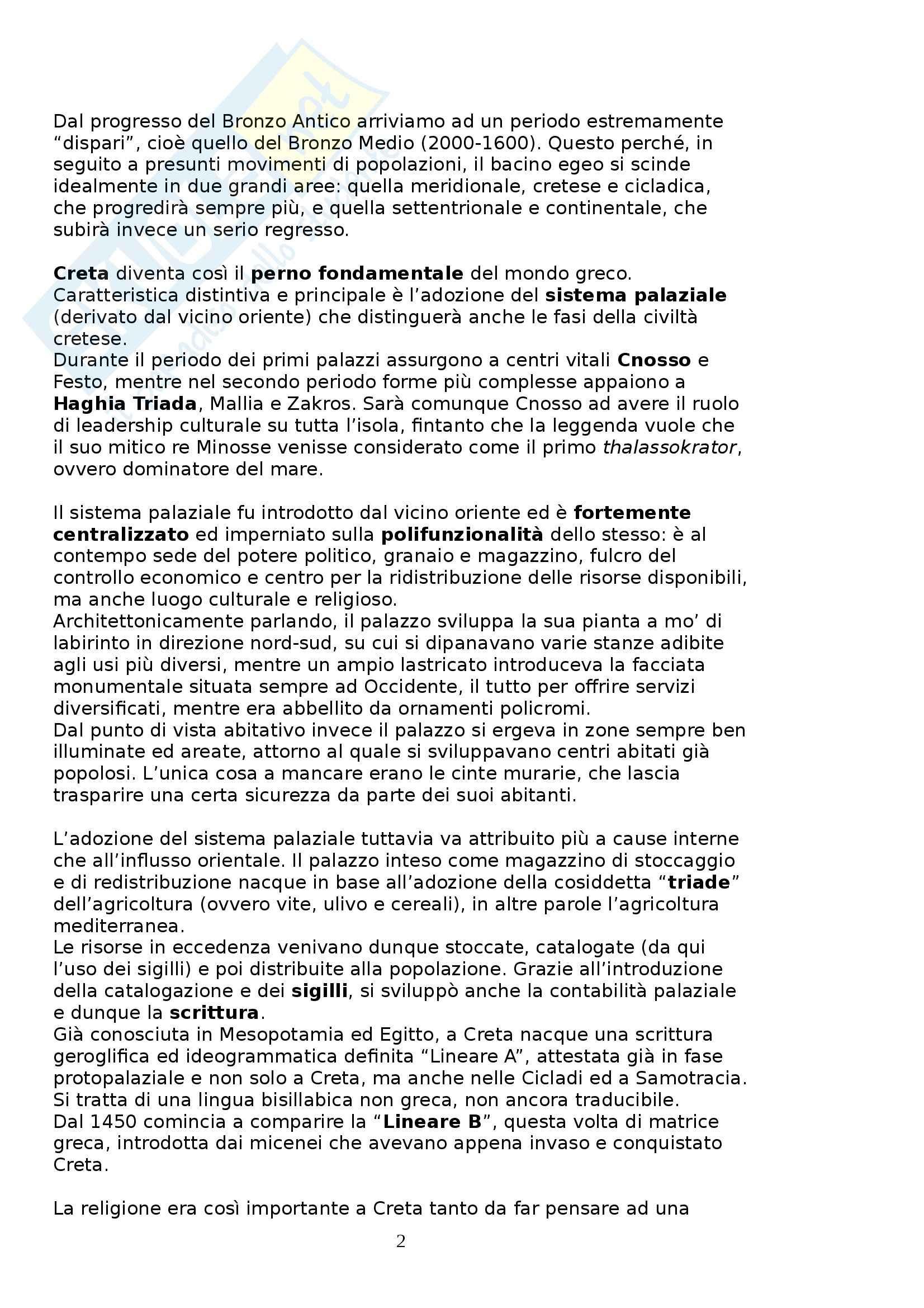Riassunto esame Storia greca, prof. Culasso, libro consigliato Manuale di Storia greca, di C. Bearzot Pag. 2