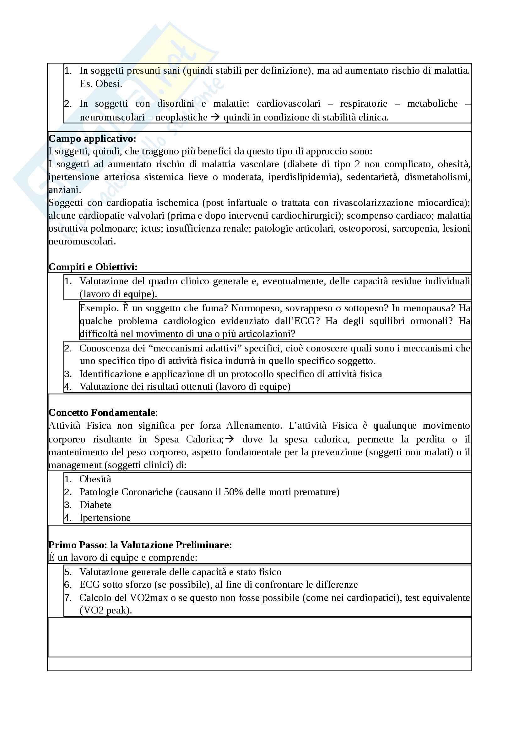 Appunti - Fisiologia clinica dell'esercizio Pag. 2