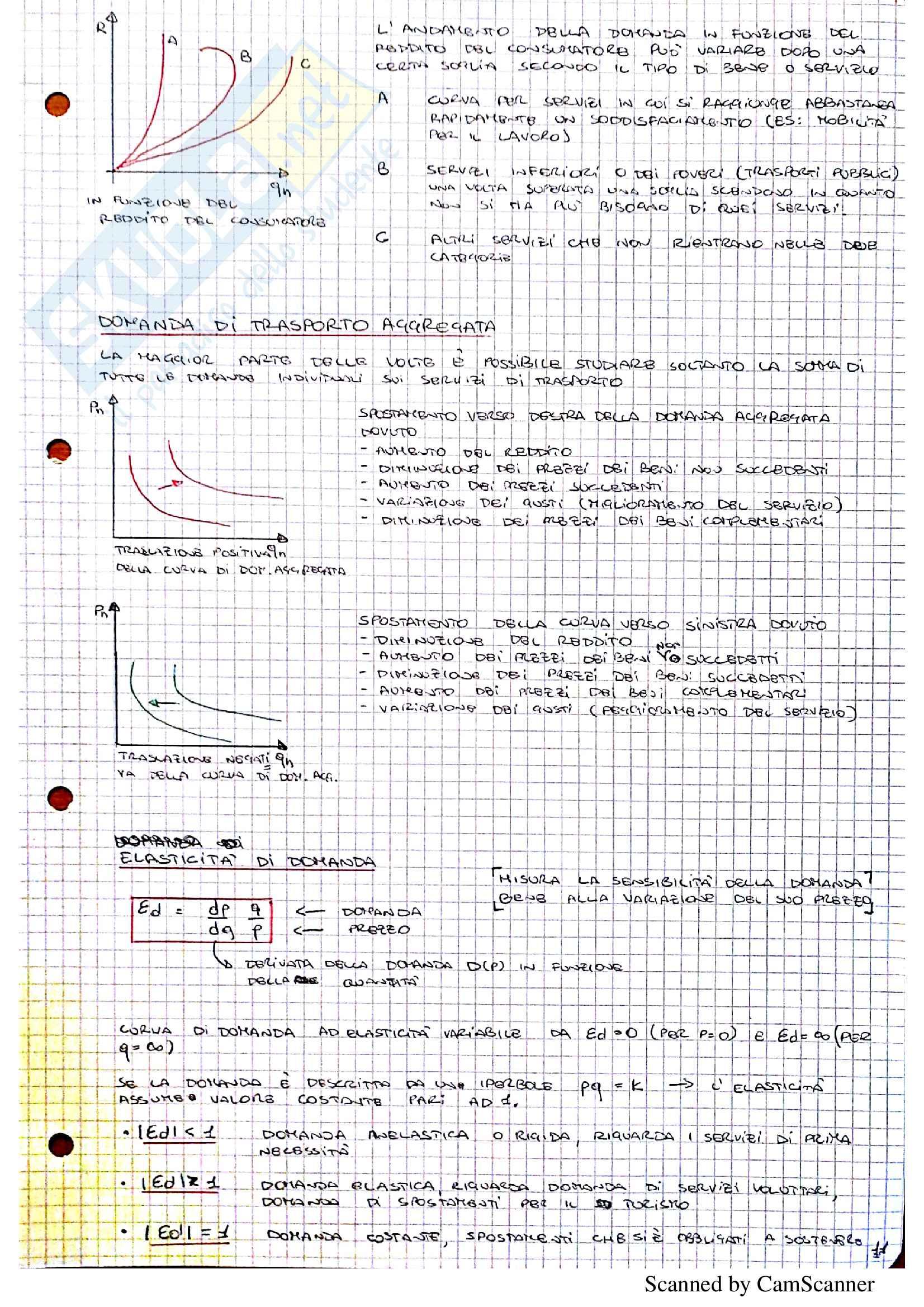 Tecnica ed economia dei trasporti (prof. Ricci) Pag. 11