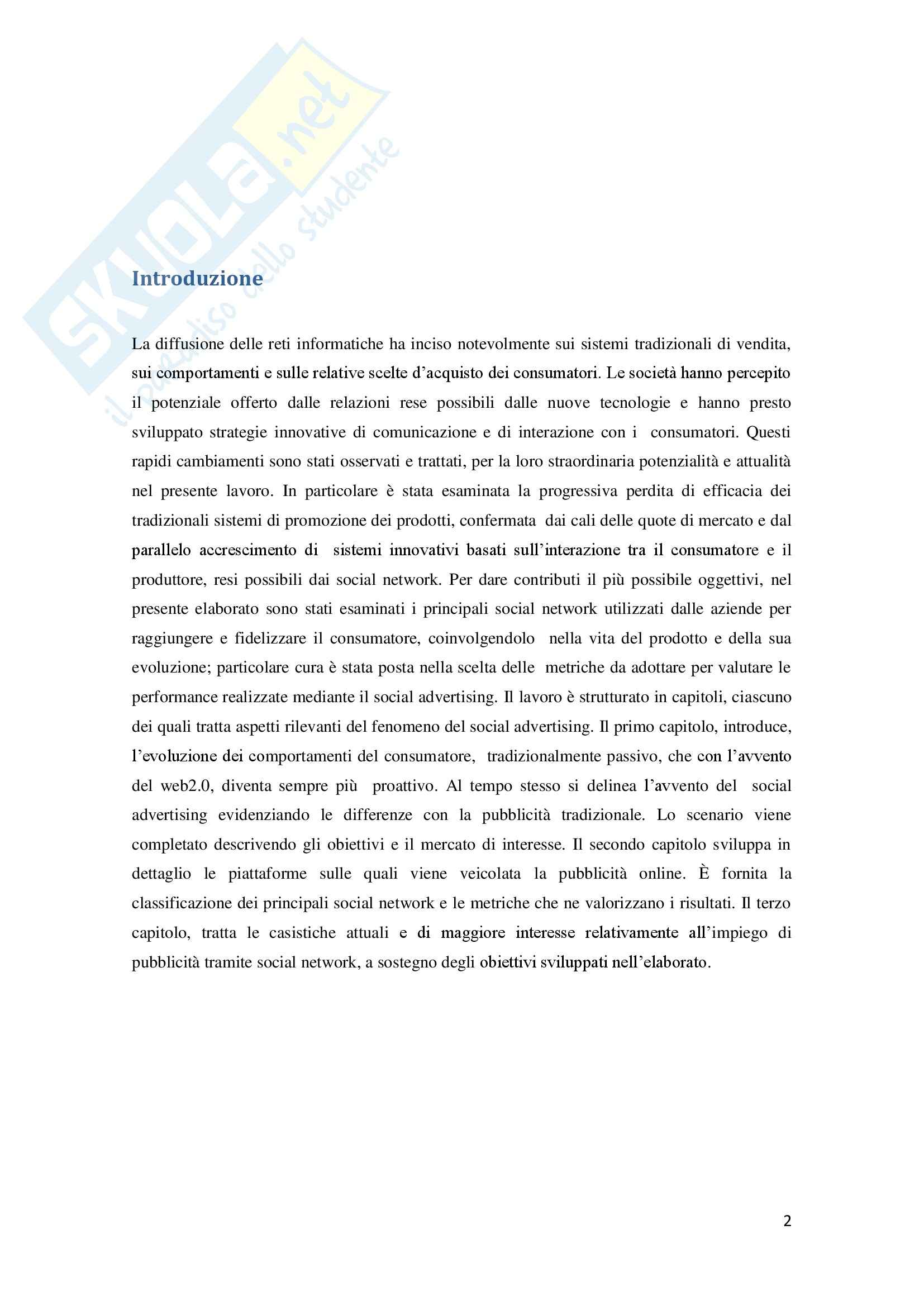 Social advertising nuovi media e strategie multicanale per le imprese, Informatica Pag. 2