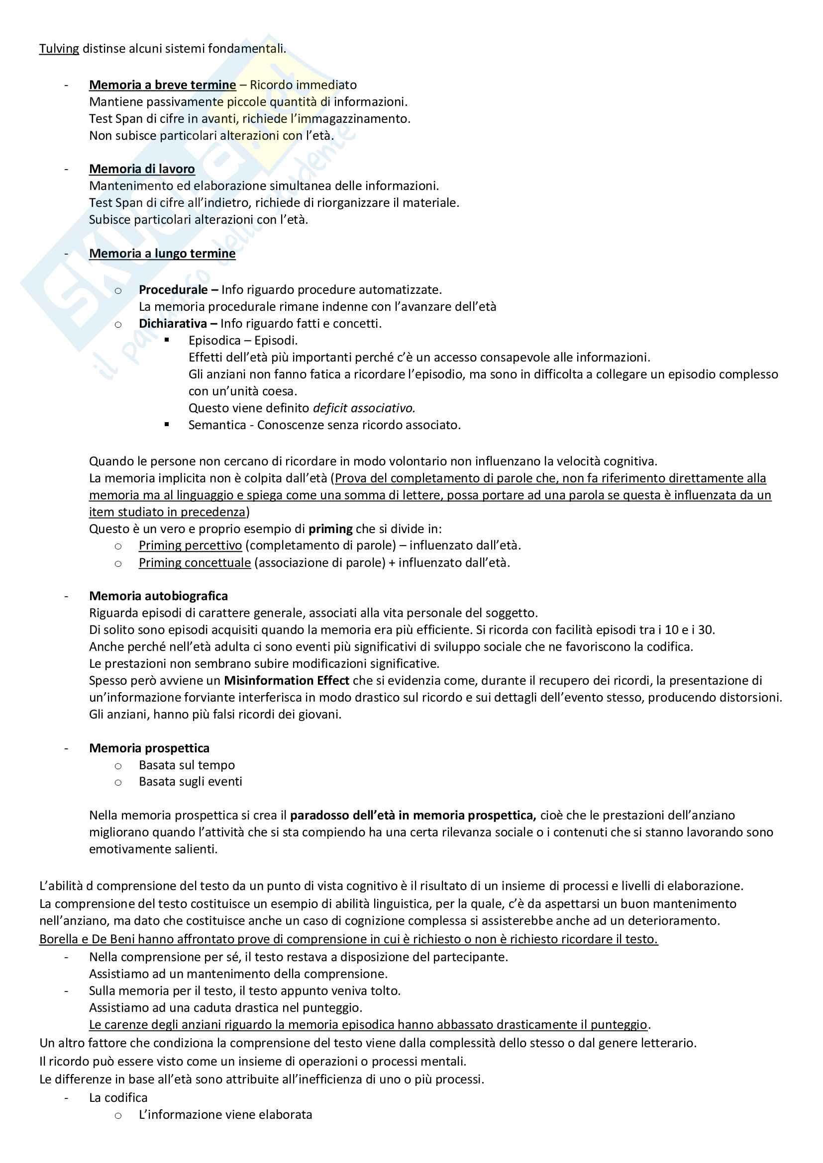 Appunti Psicologia dello sviluppo Parte 2 Pag. 6