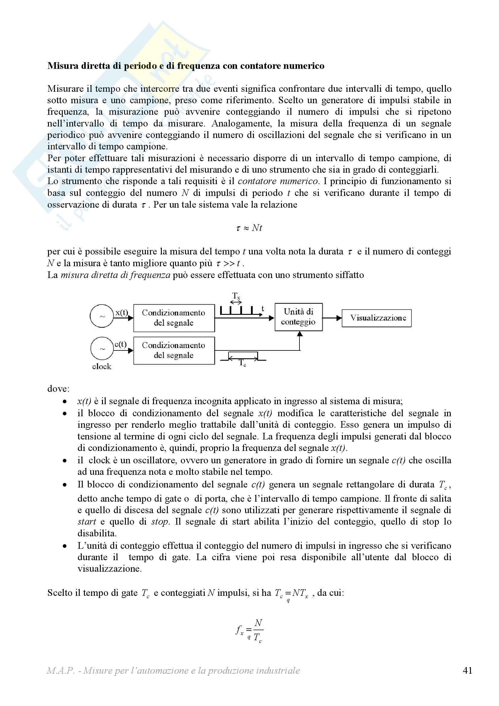 Misure per l'automazione - sunto del corso Pag. 41
