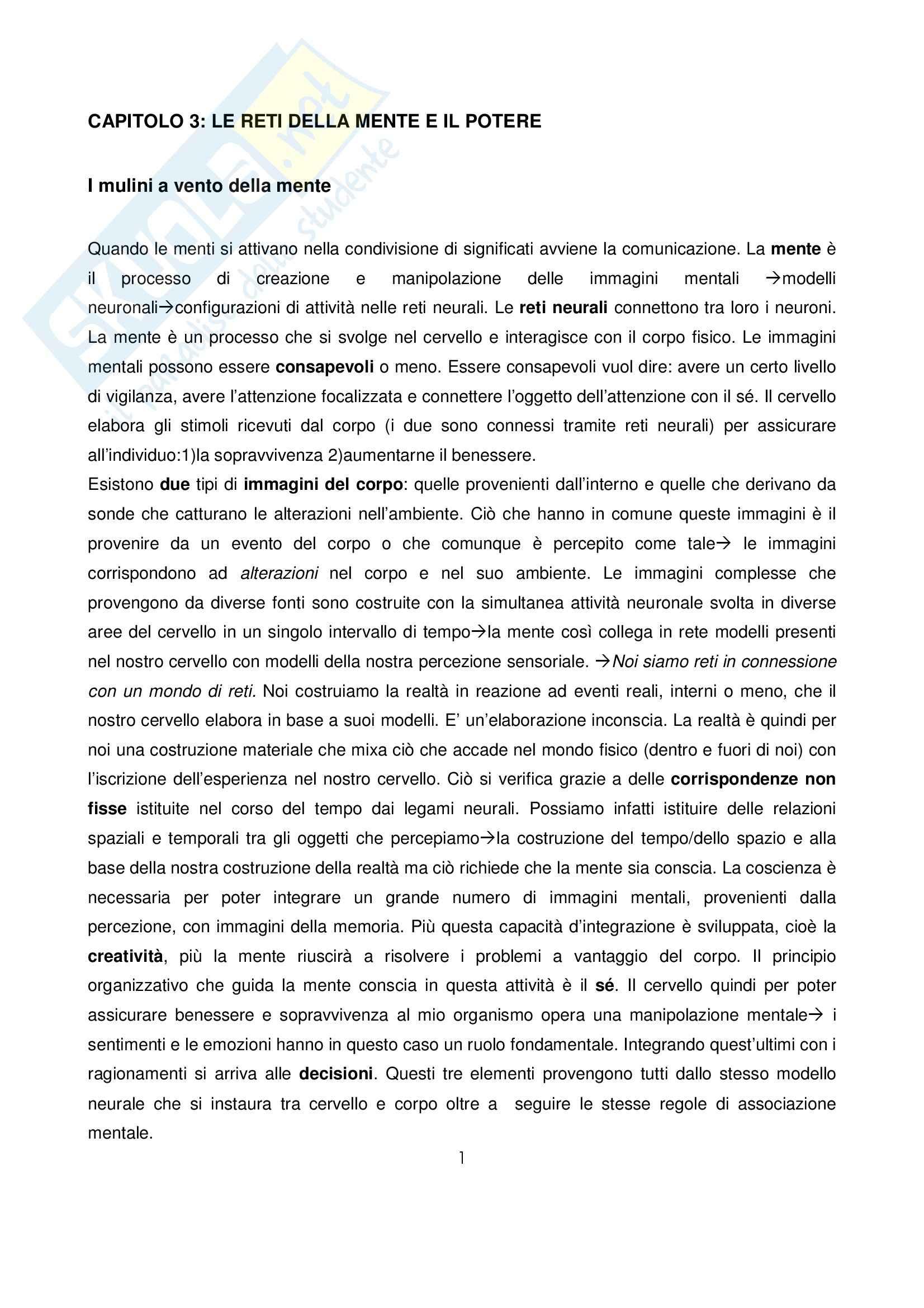 Comunicazione e potere - Castells (cap.3)