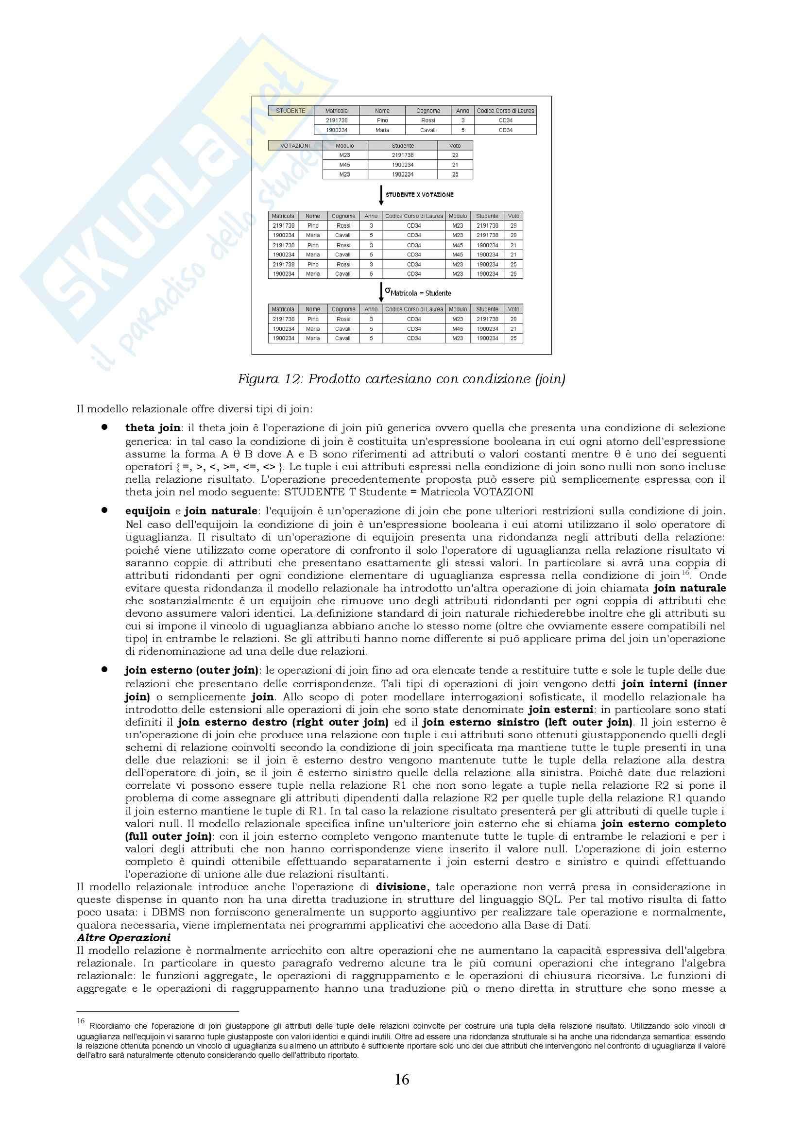 Basi di dati - Riassunto esame, prof. Coccoli Pag. 16
