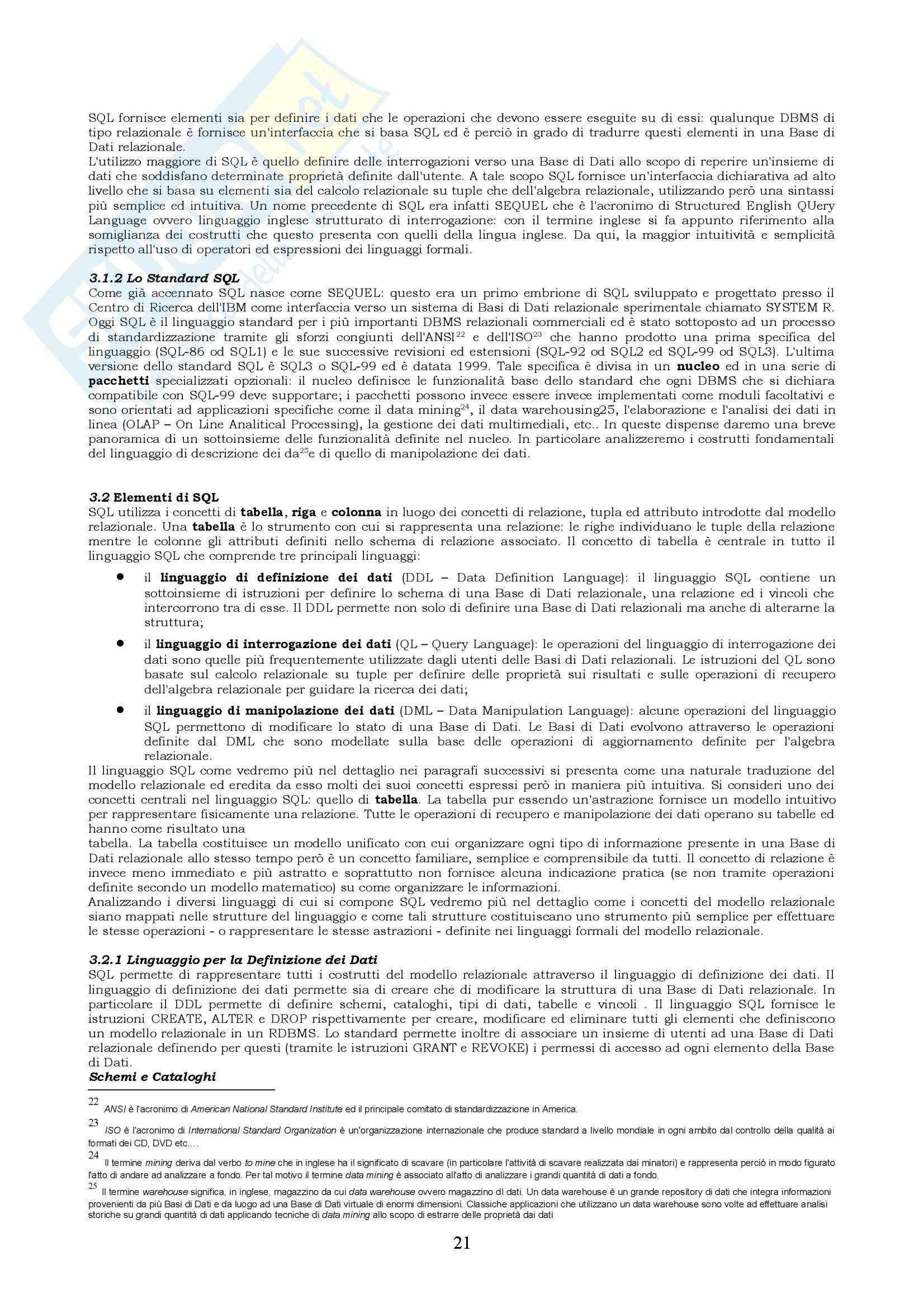 Basi di dati - Riassunto esame, prof. Coccoli Pag. 21