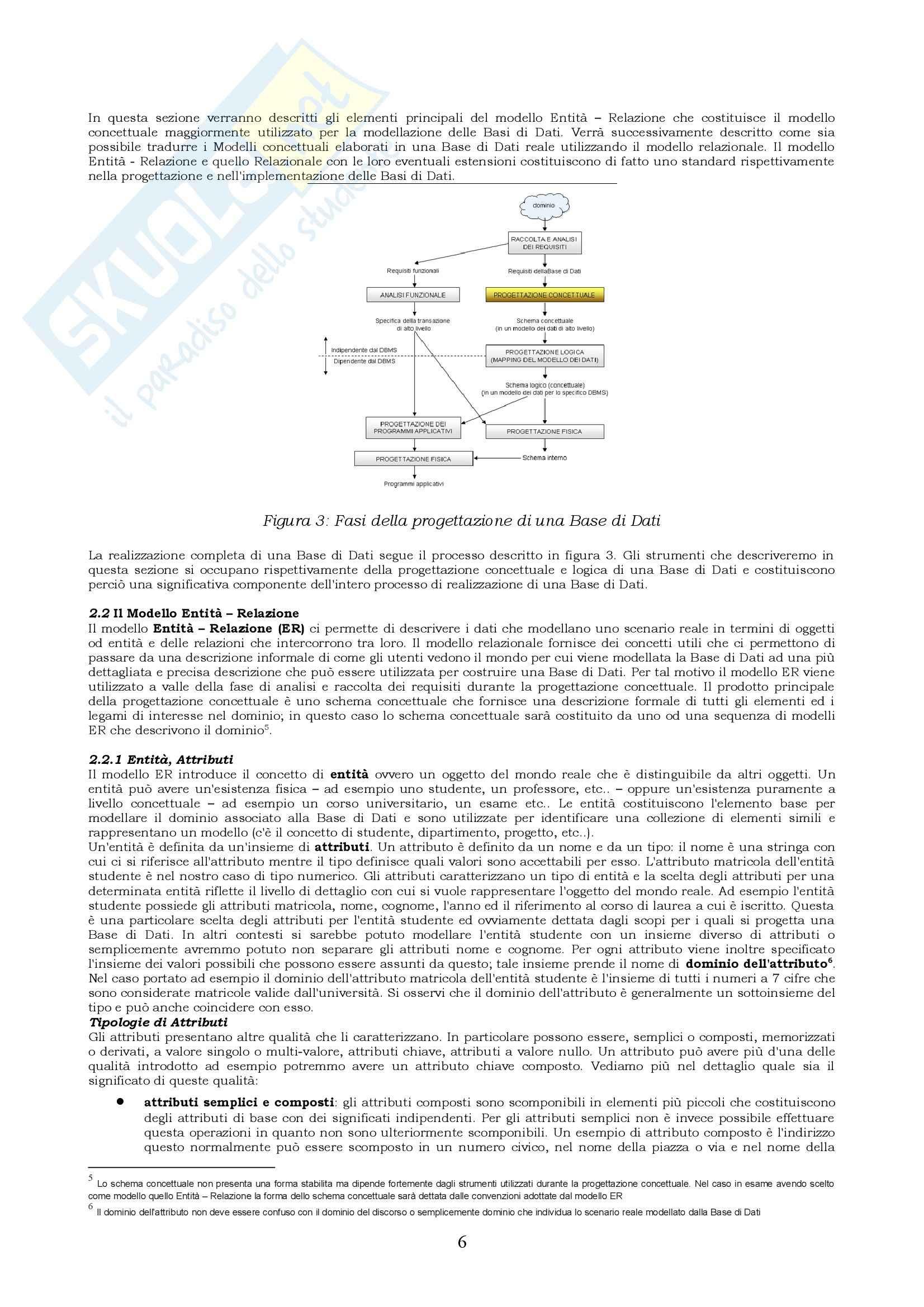 Basi di dati - Riassunto esame, prof. Coccoli Pag. 6