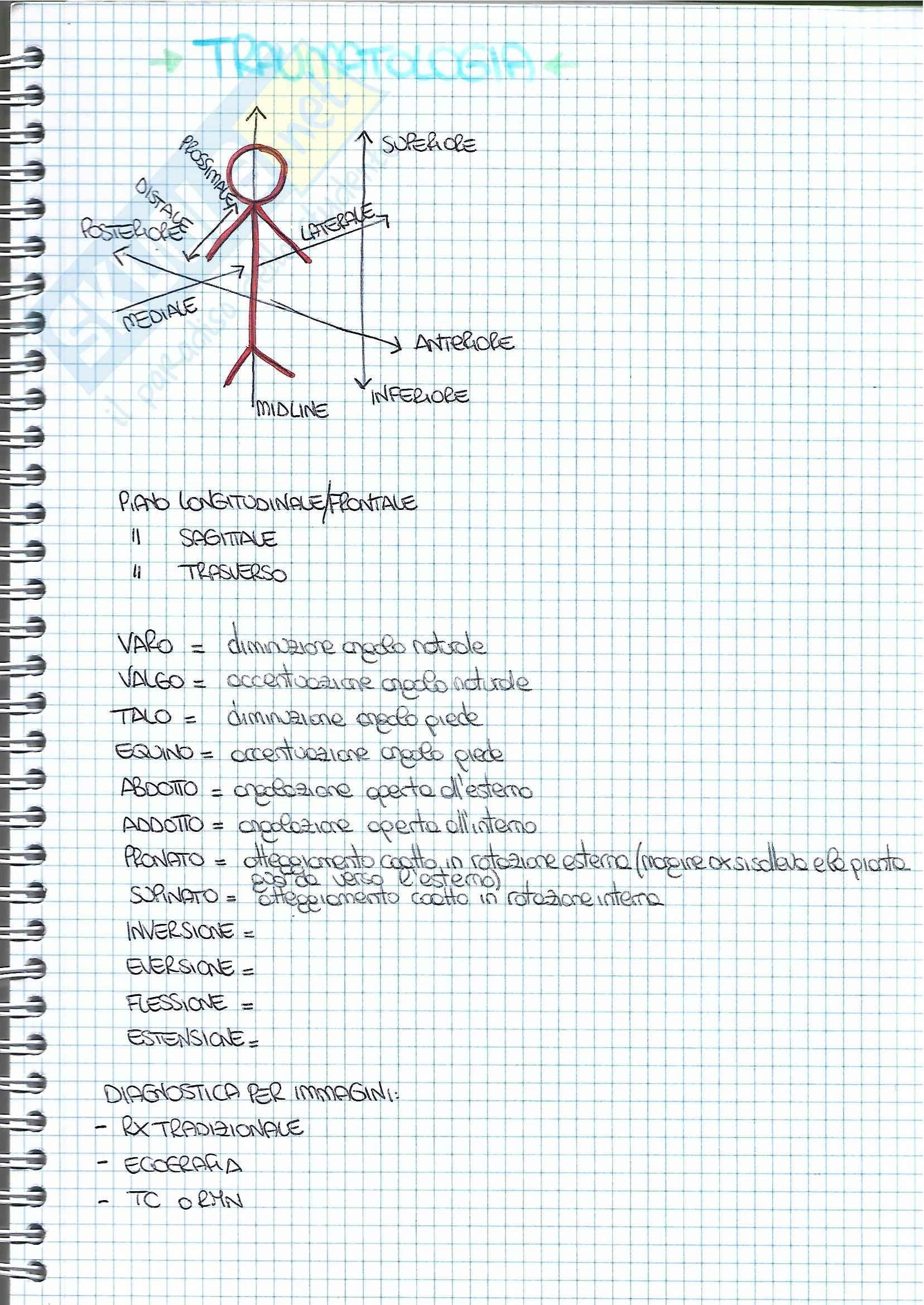 Riassunti traumatologia, libro consigliato Clinica Ortopedica di Mancini, Morlacchi