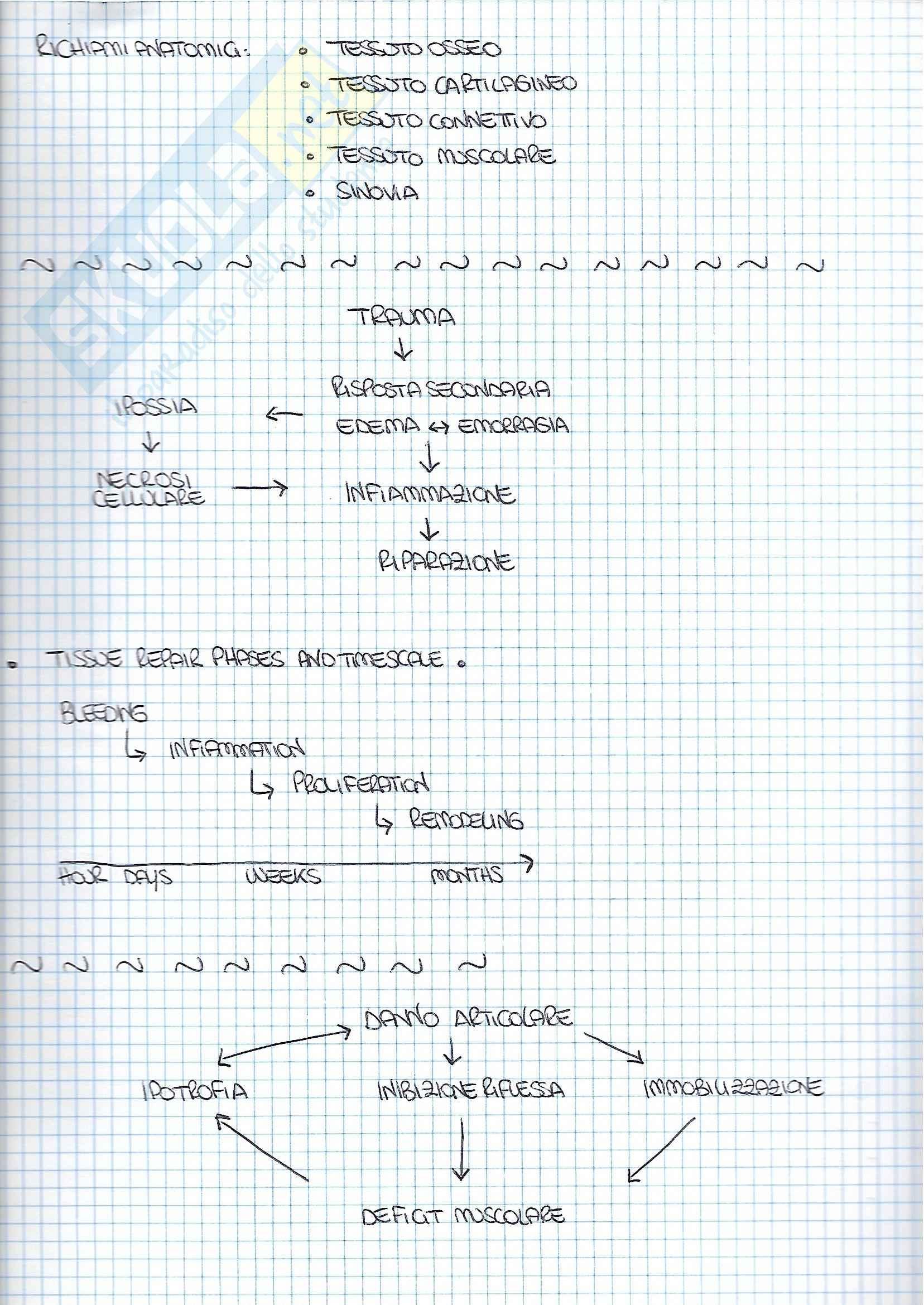 Riassunti traumatologia, libro consigliato Clinica Ortopedica di Mancini, Morlacchi Pag. 2