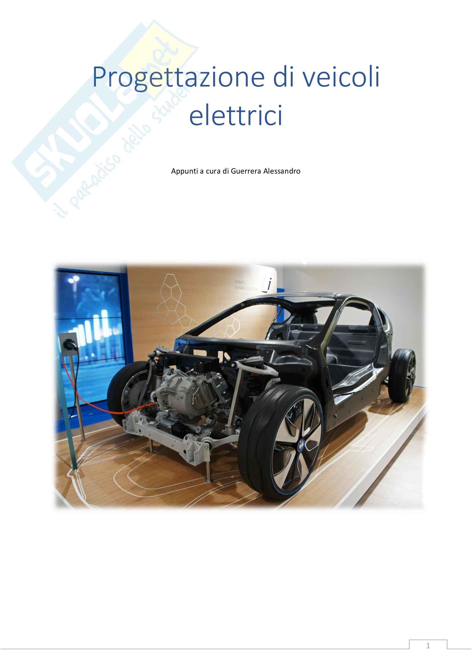Appunti di Progettazione di Veicoli Elettrici